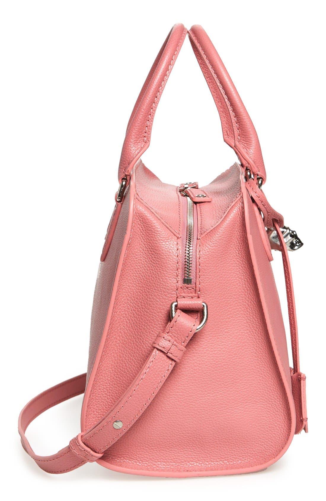 Alternate Image 5  - Alexander McQueen 'Small Padlock' Leather Duffel Bag