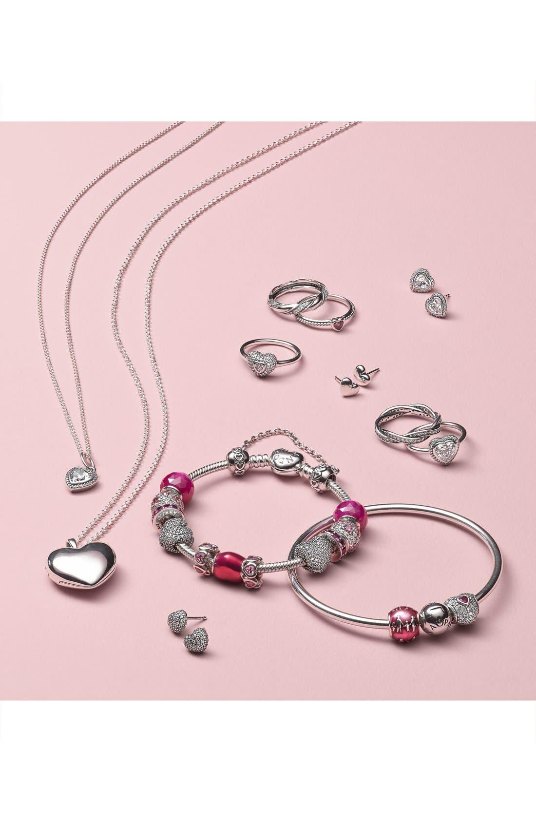 Alternate Image 2  - PANDORA Mini Heart Stud Earrings