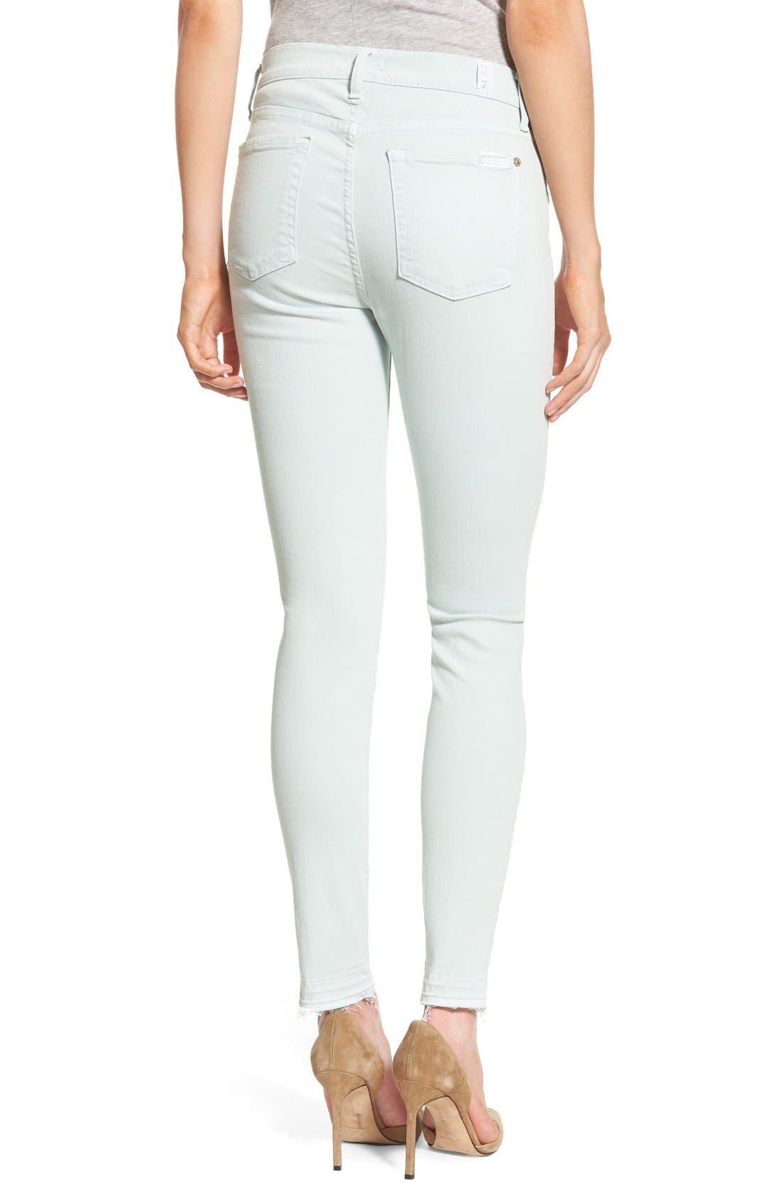 Alternate Image 2  - 7 For All Mankind® Released Hem Ankle Skinny Jeans