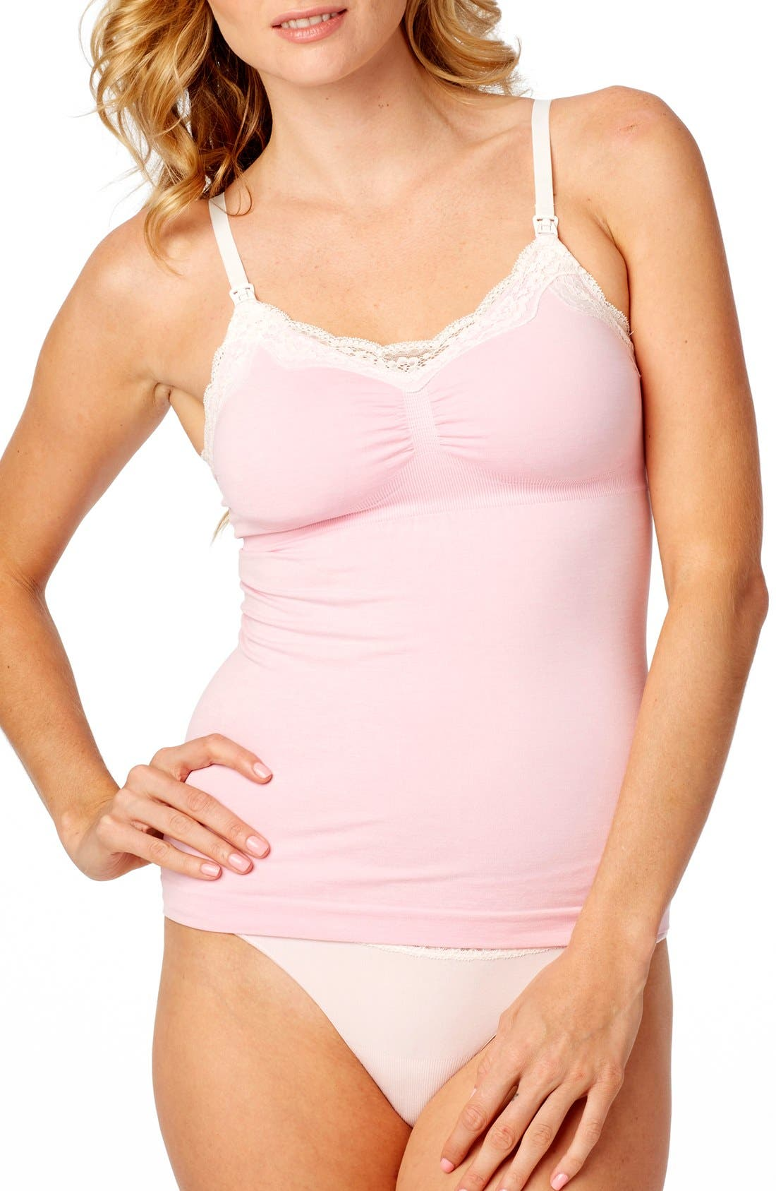 Rosie Pope Seamless Lace Trim Nursing Maternity Camisole