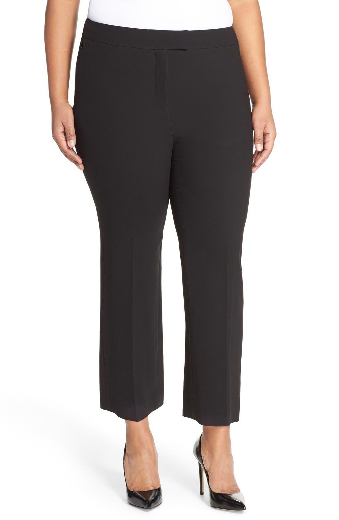 Flare Leg Crop Pants,                         Main,                         color, Black