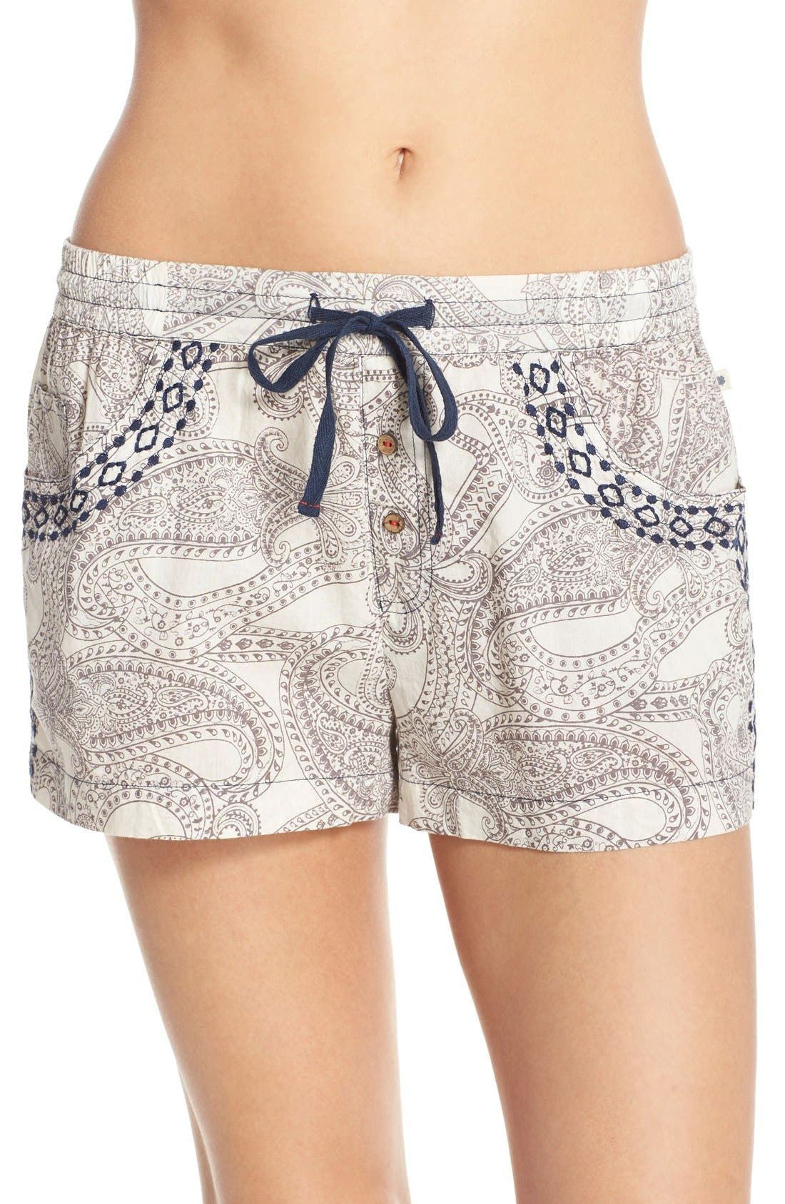 Alternate Image 1 Selected - Lucky Brand Print Cotton Lounge Shorts