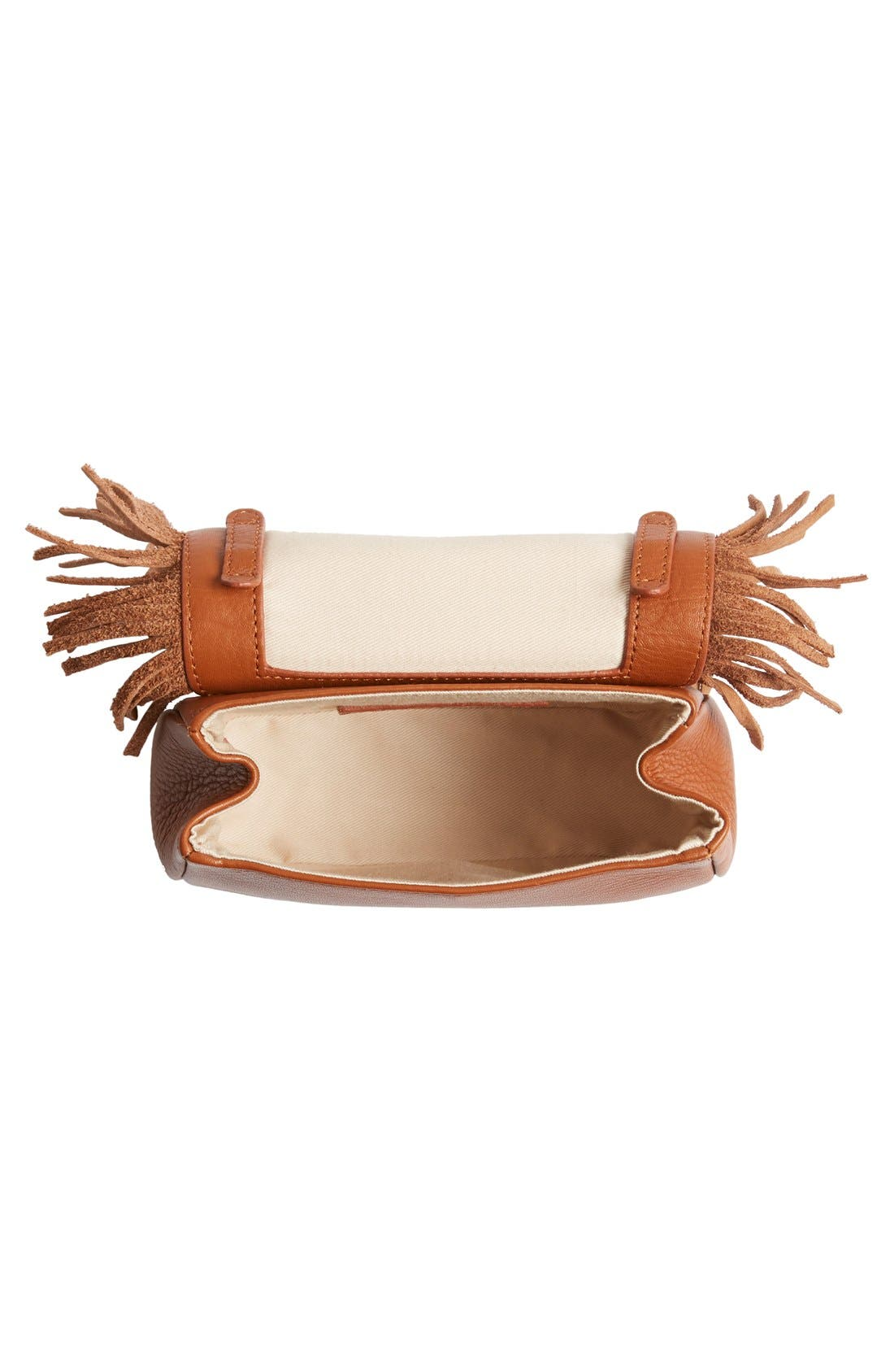 Alternate Image 4  - See by Chloé 'Medium Paige' Fringe Leather & Suede Clutch
