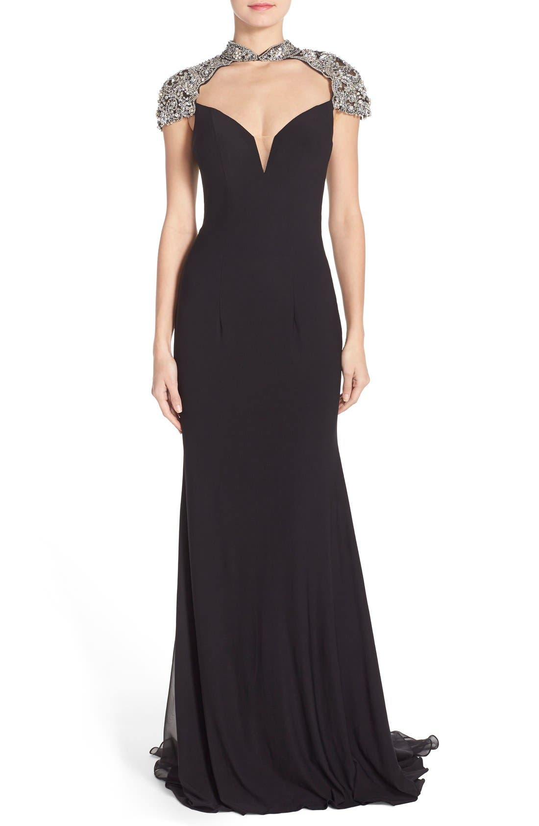 Main Image - Sean Collection Embellished Jersey Gown