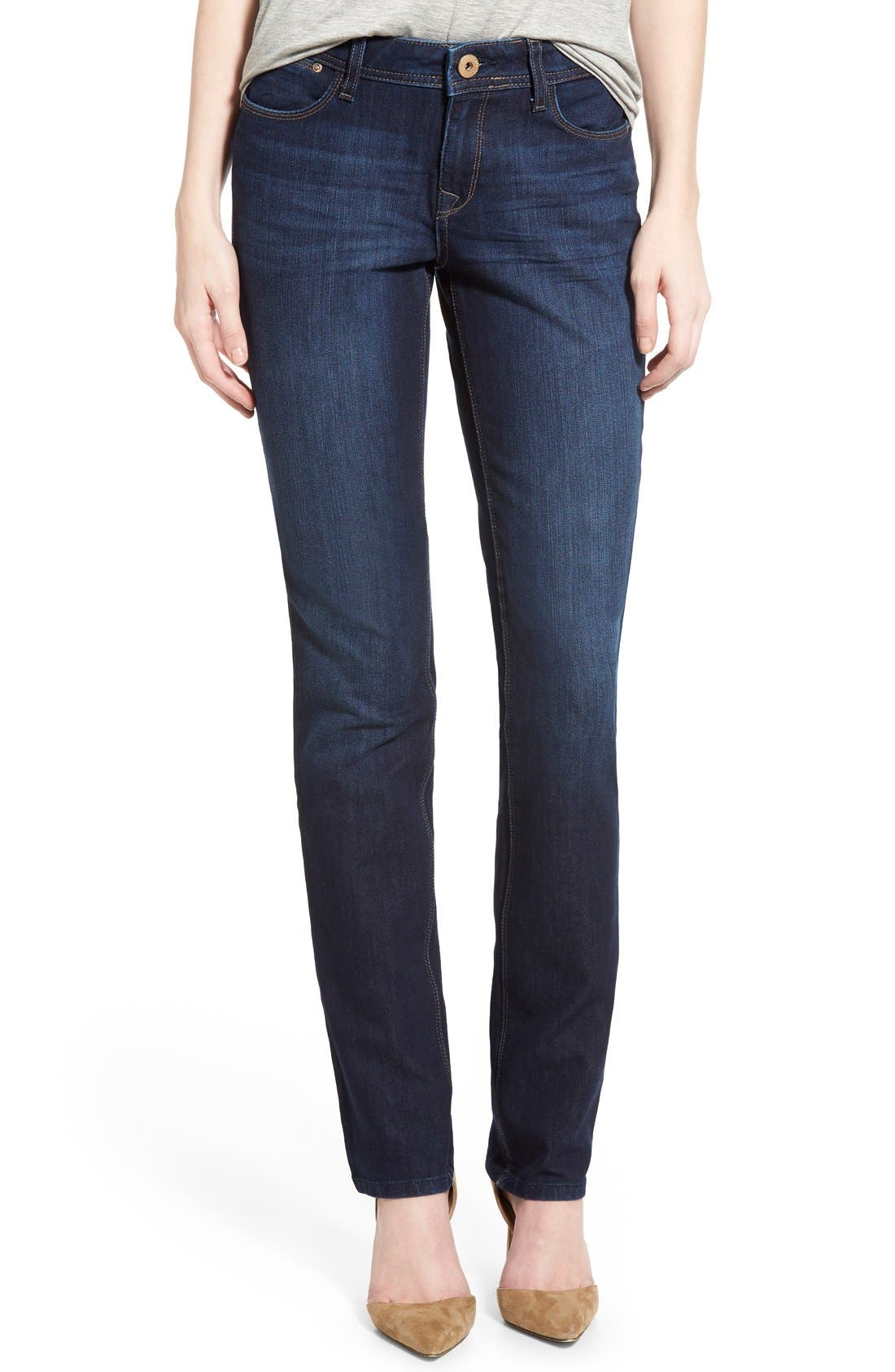 'Coco' Curvy Straight Jeans,                             Main thumbnail 1, color,                             Solo