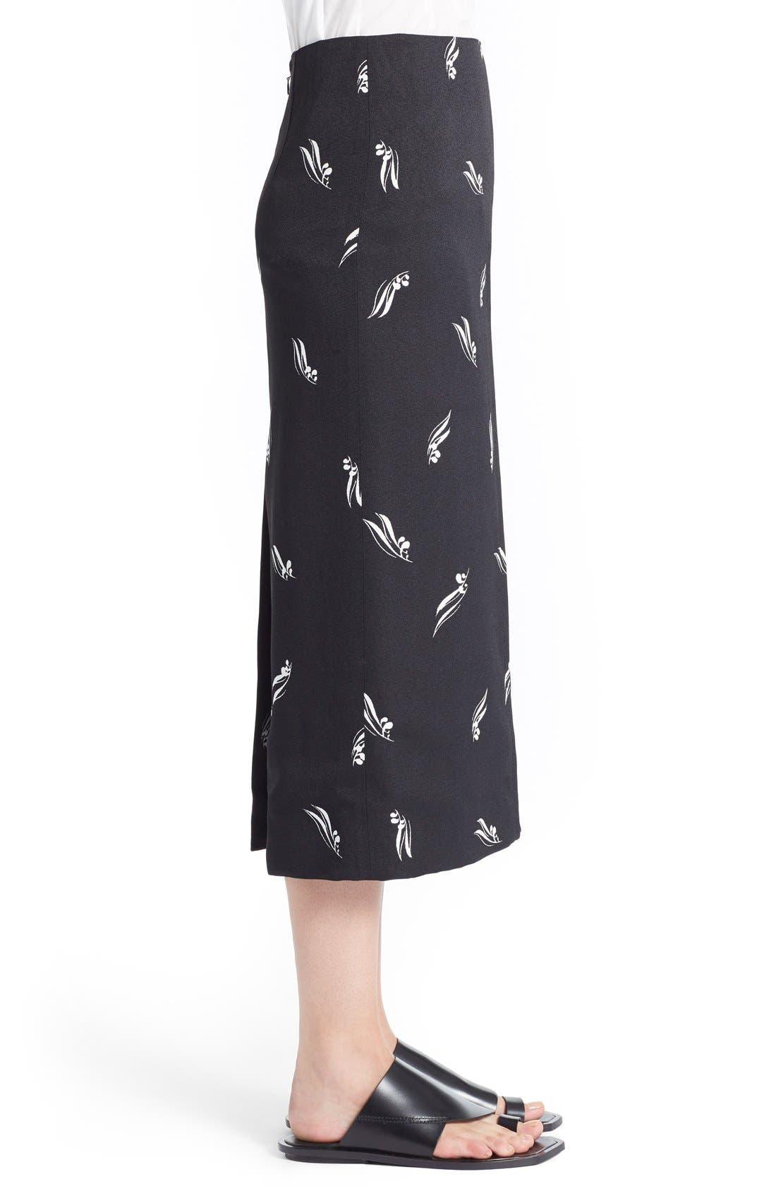 Alternate Image 4  - Marni Olive Leaf Print Crepe Pencil Skirt