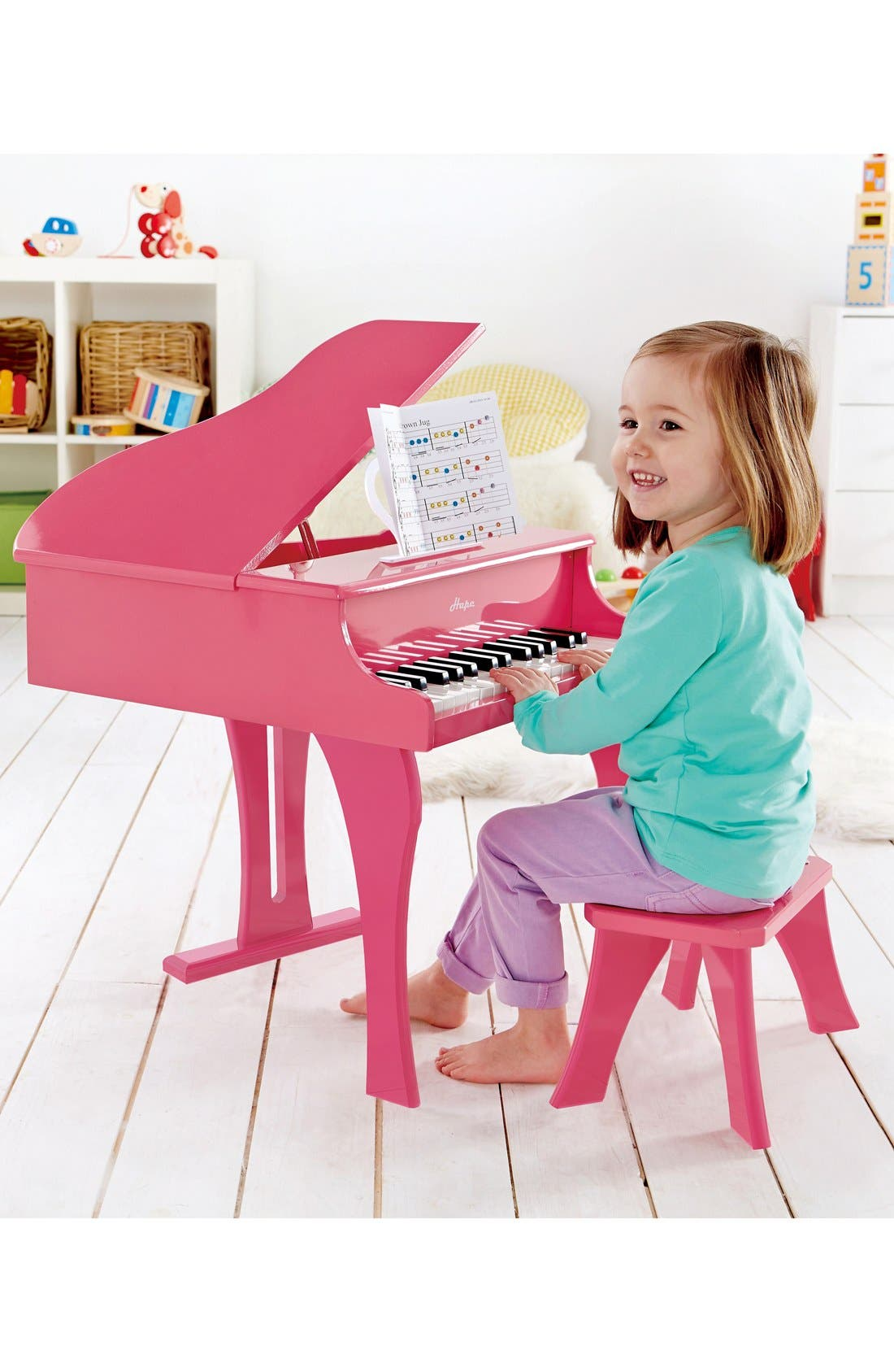 'Happy Grand' Toy Grand Piano & Bench,                             Alternate thumbnail 3, color,                             Pink