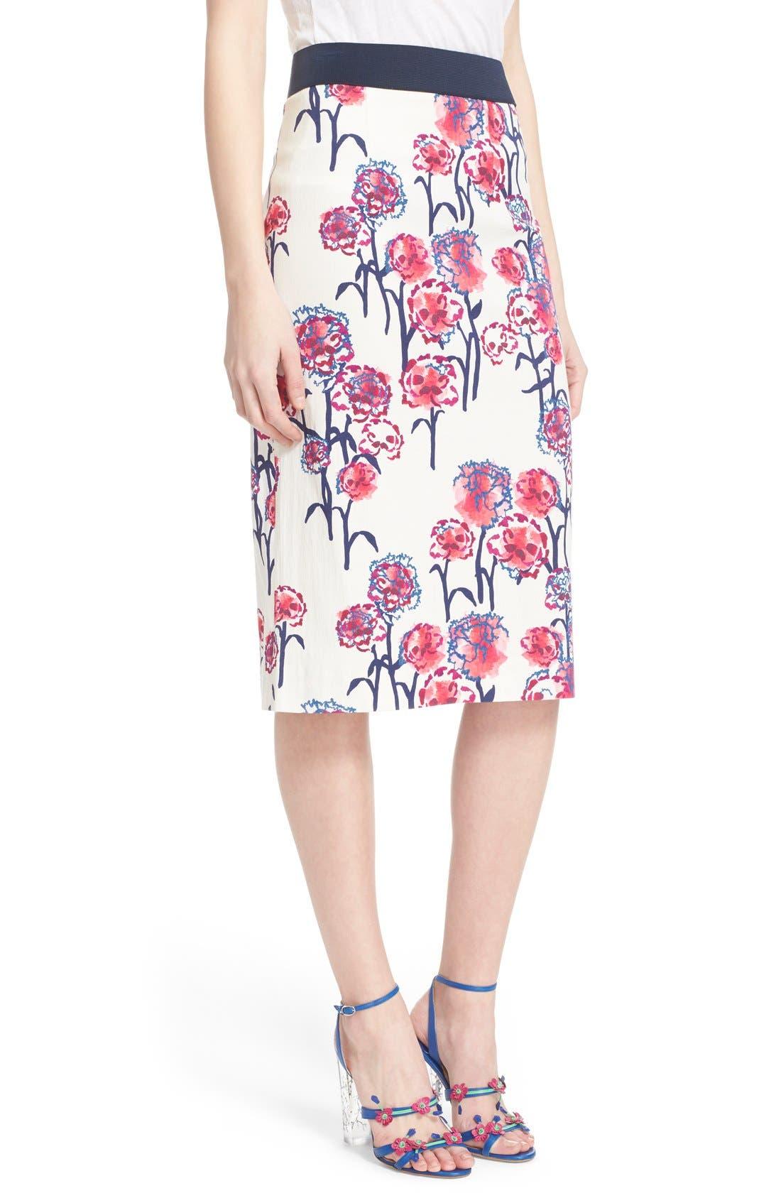 Alternate Image 4  - Tanya Taylor Textured Garden Print Pencil Skirt
