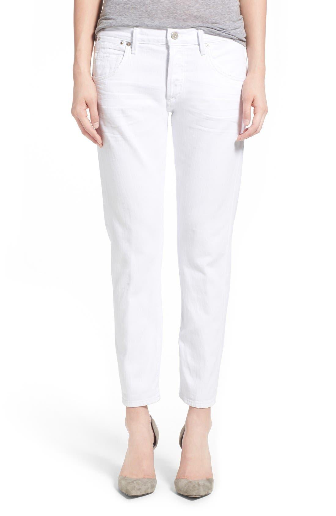 'Emerson' Slim Boyfriend Jeans,                         Main,                         color, Glacier