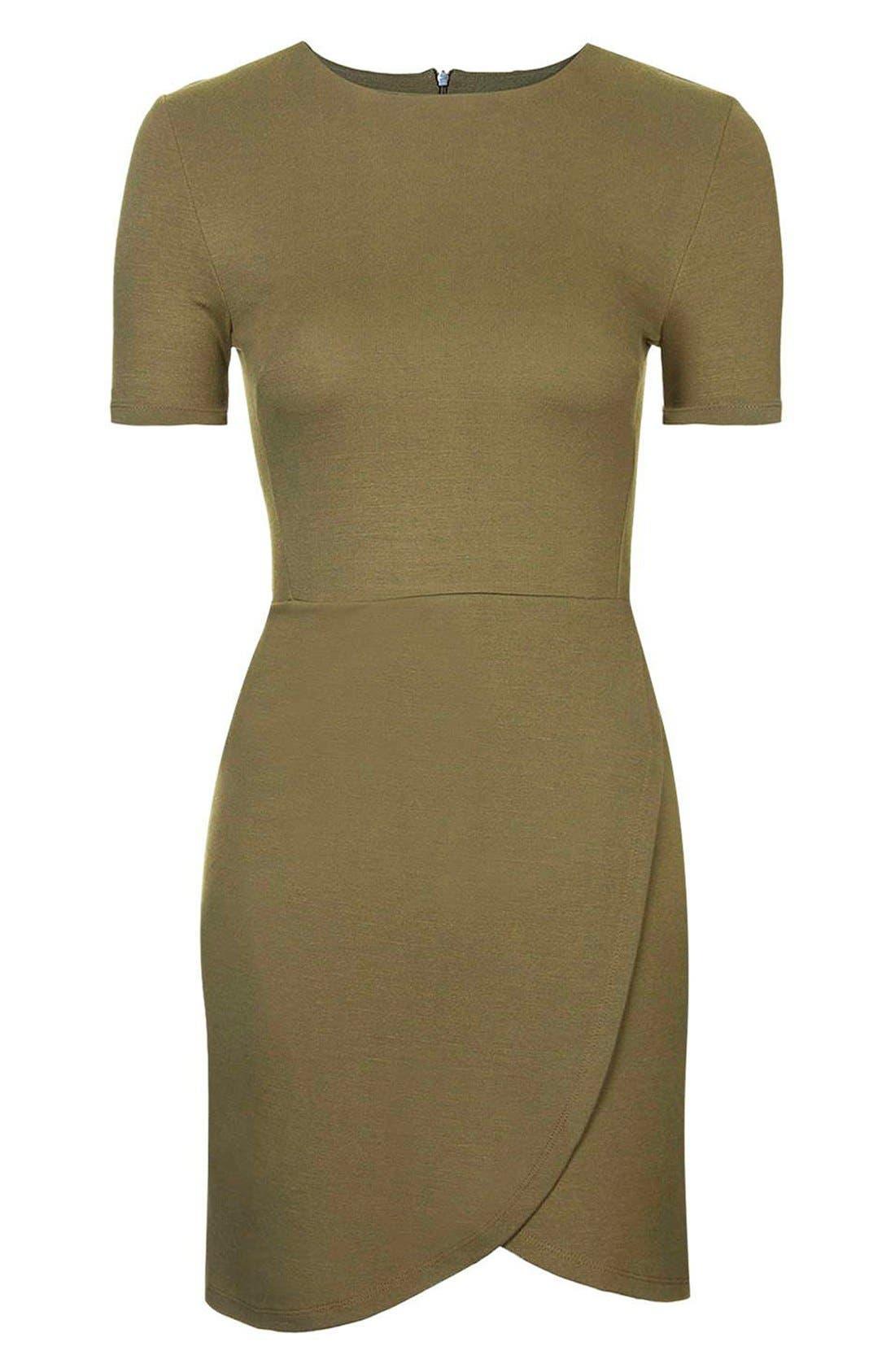 Alternate Image 3  - Topshop Faux Wrap Body-Con Dress (Petite)