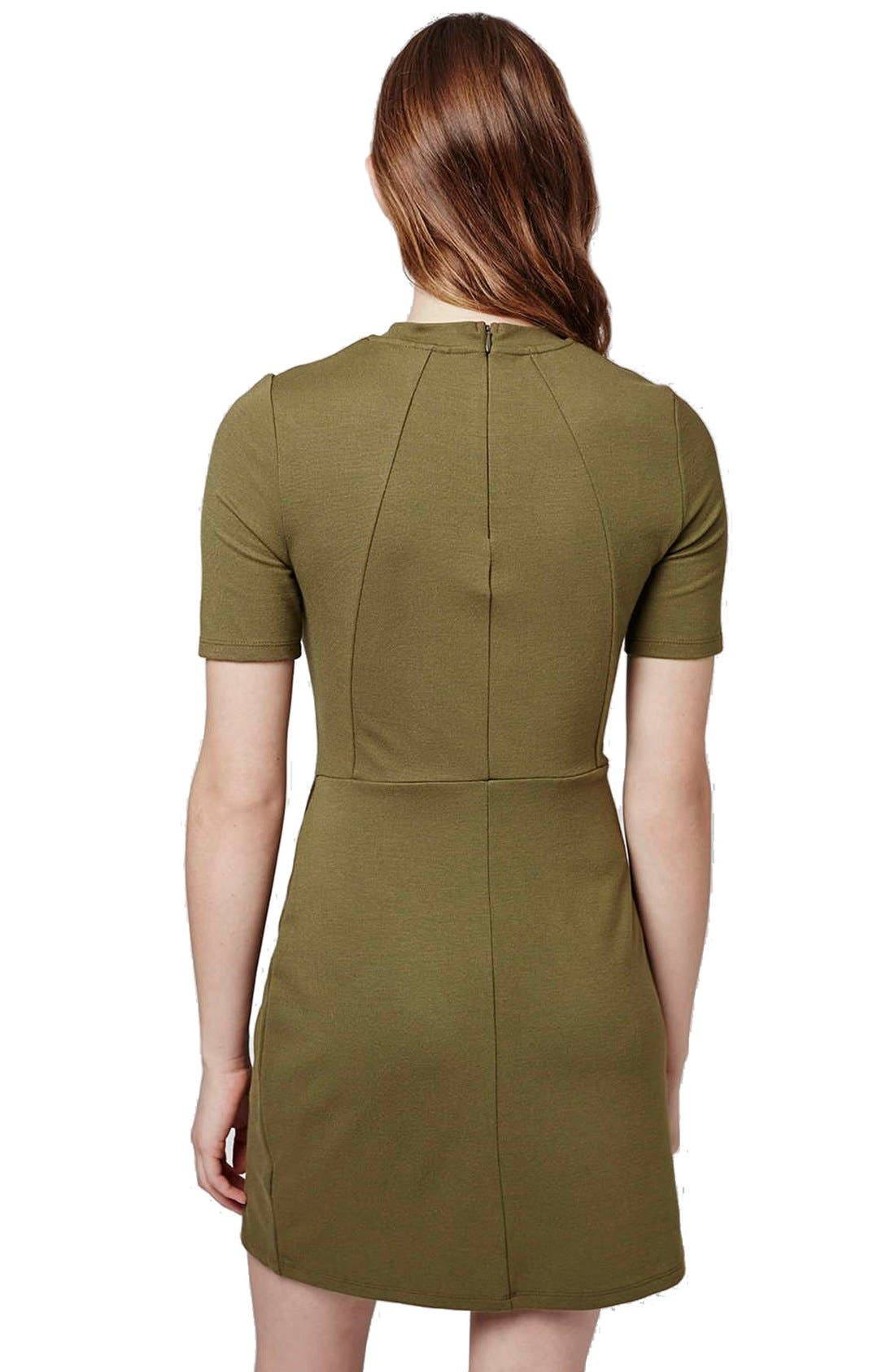 Alternate Image 2  - Topshop Faux Wrap Body-Con Dress (Petite)