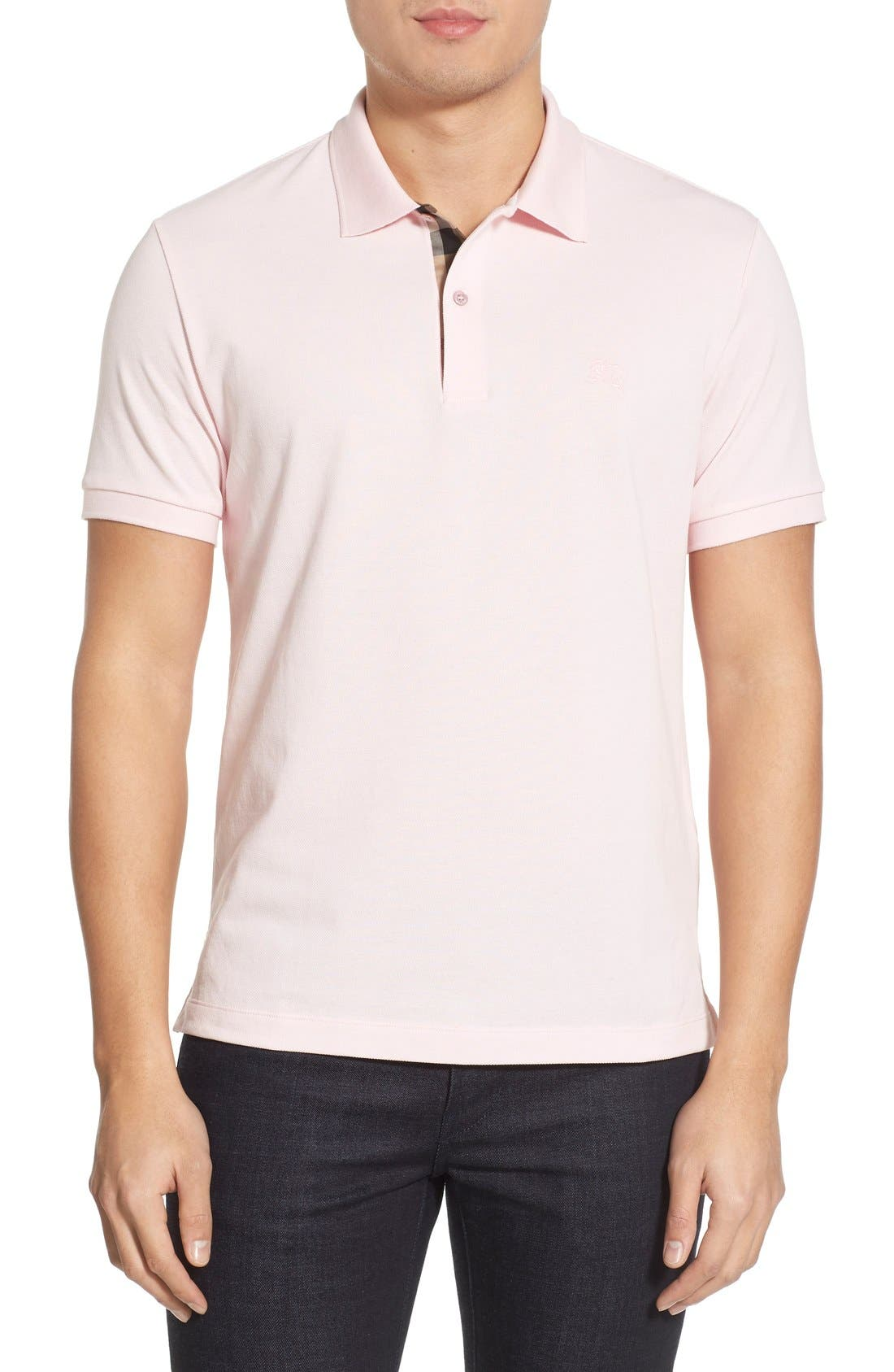 burberry pink shirt men