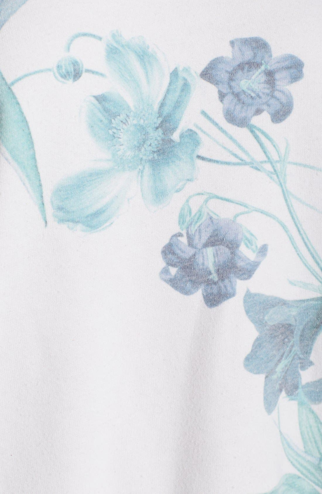 Alternate Image 5  - 35mm 'Jenna' Floral Sweatshirt