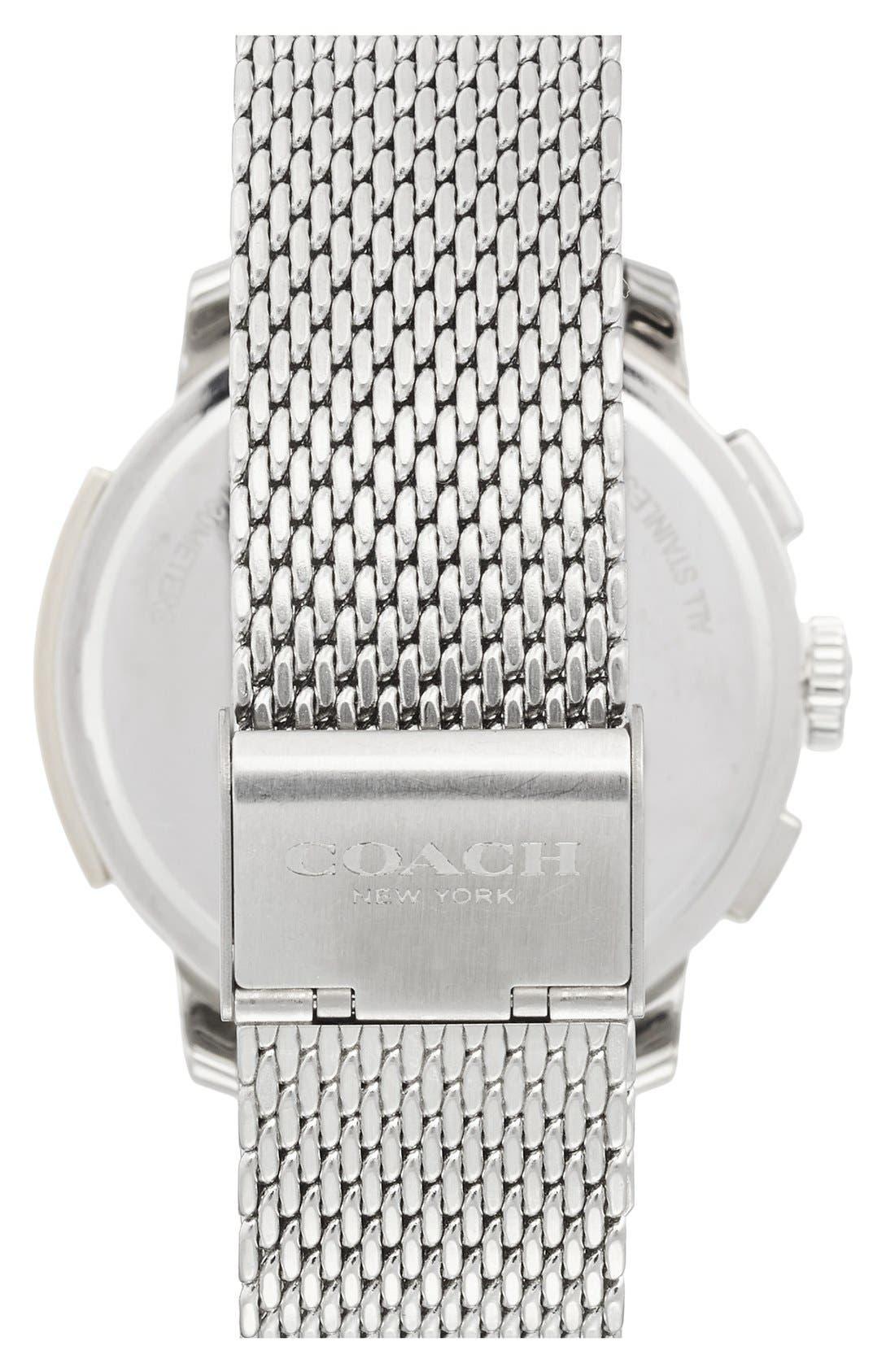 Alternate Image 2  - Coach 'Bleeker' Chronograph Mesh Strap Watch, 42mm