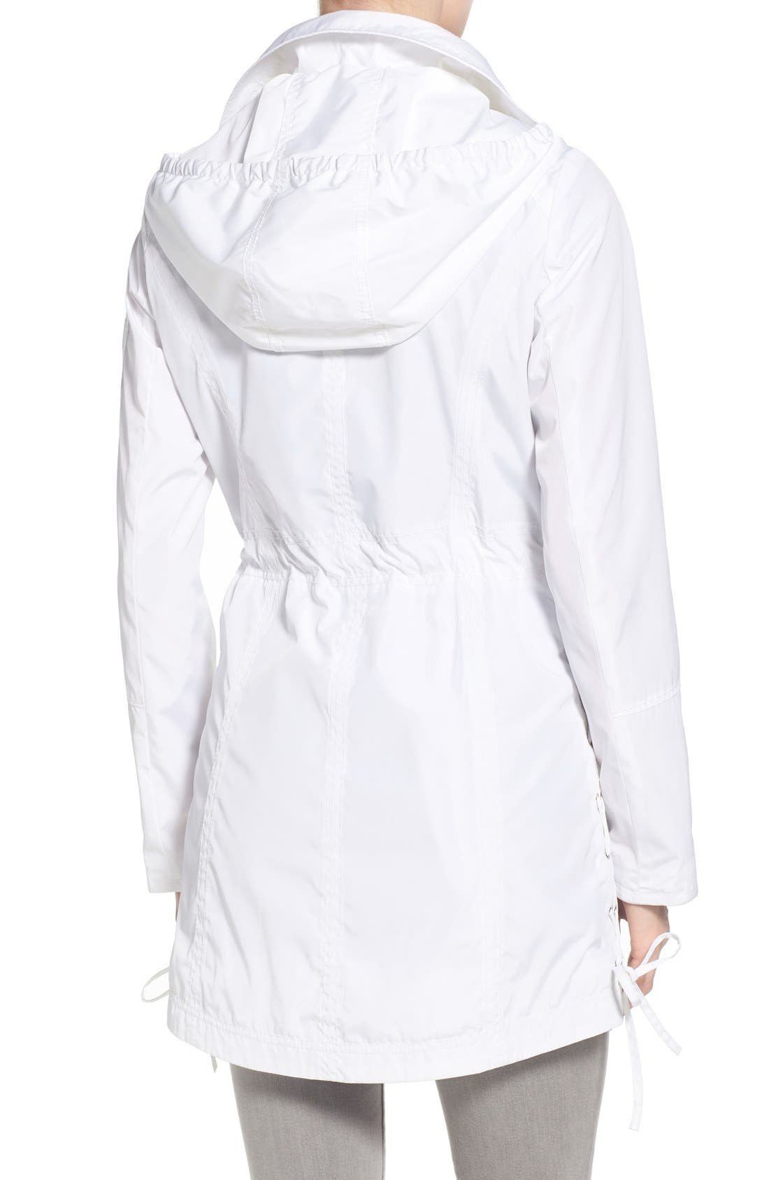 Windbreaker with Lace-Up Sides,                             Alternate thumbnail 2, color,                             White