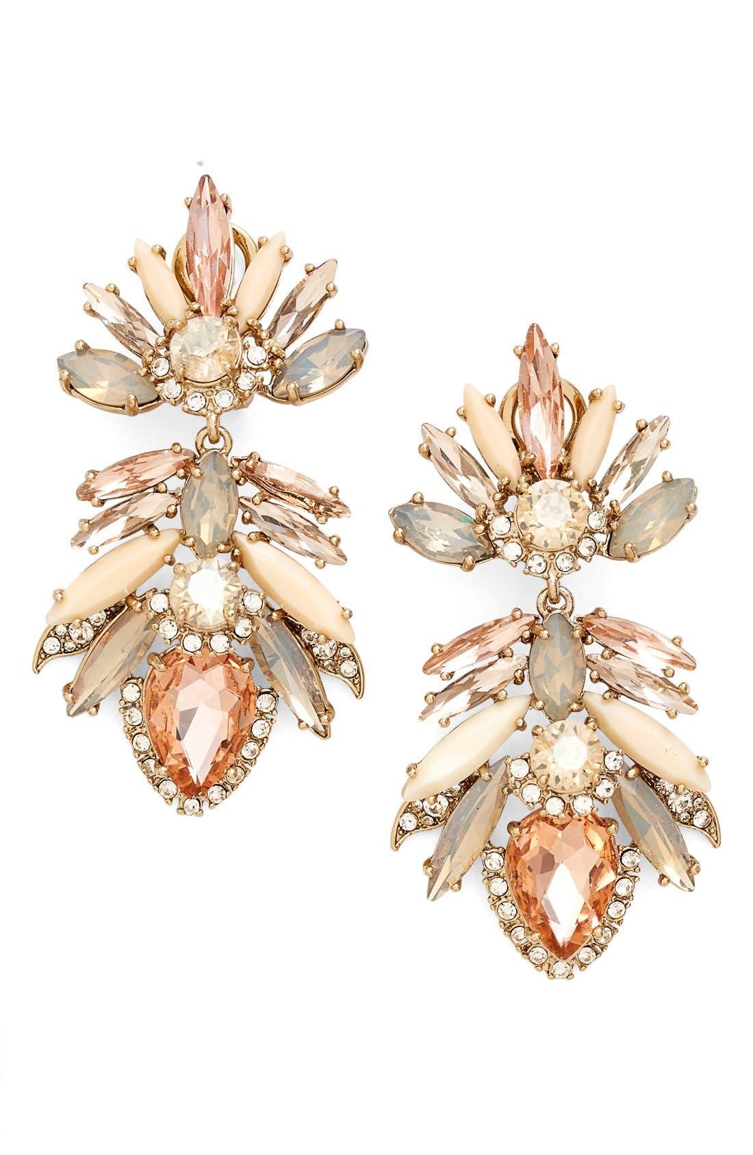 Alternate Image 1 Selected - Marchesa 'Crystal Drama' Drop Earrings