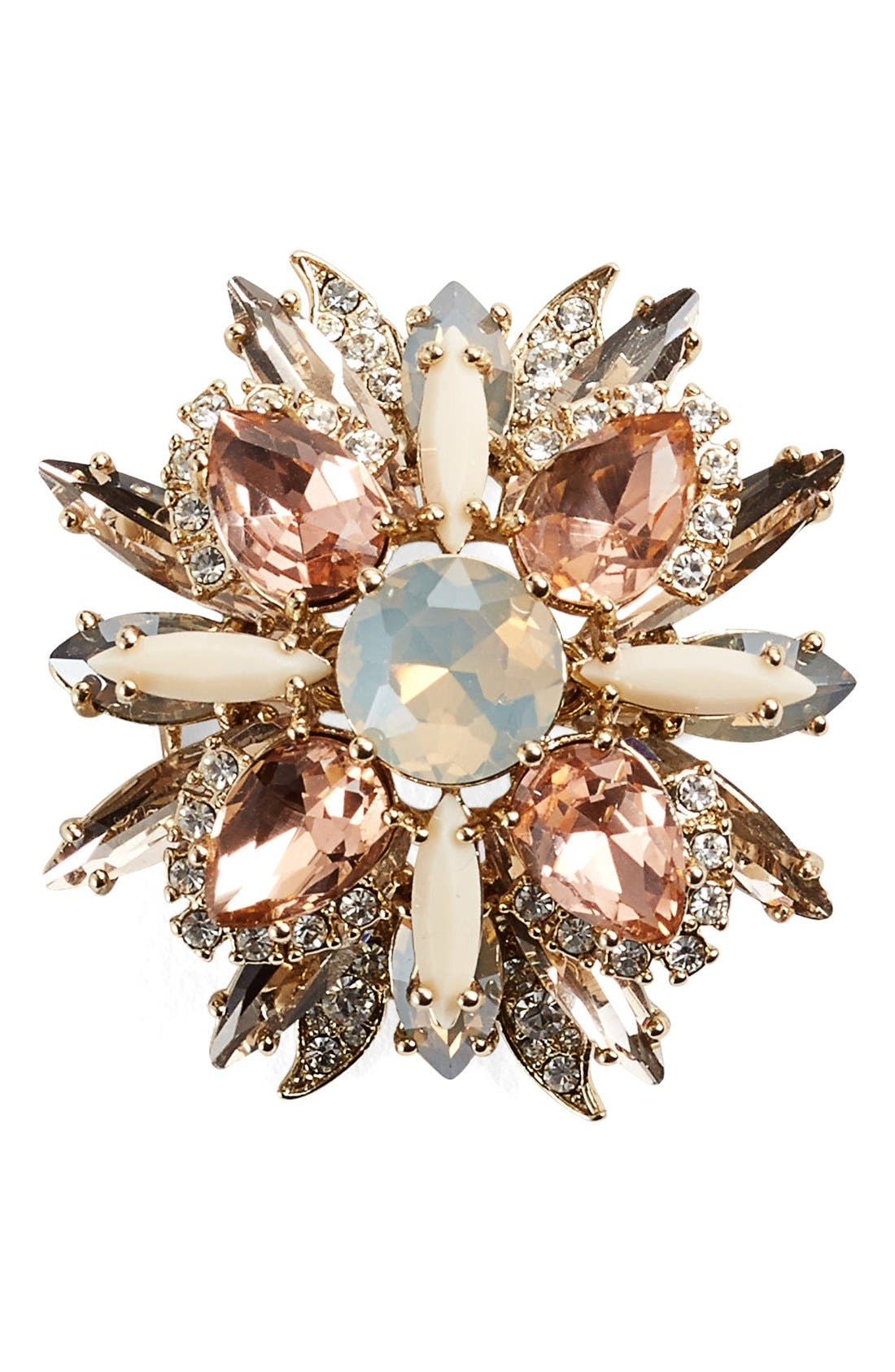 Alternate Image 1 Selected - Marchesa Jeweled Cluster Brooch