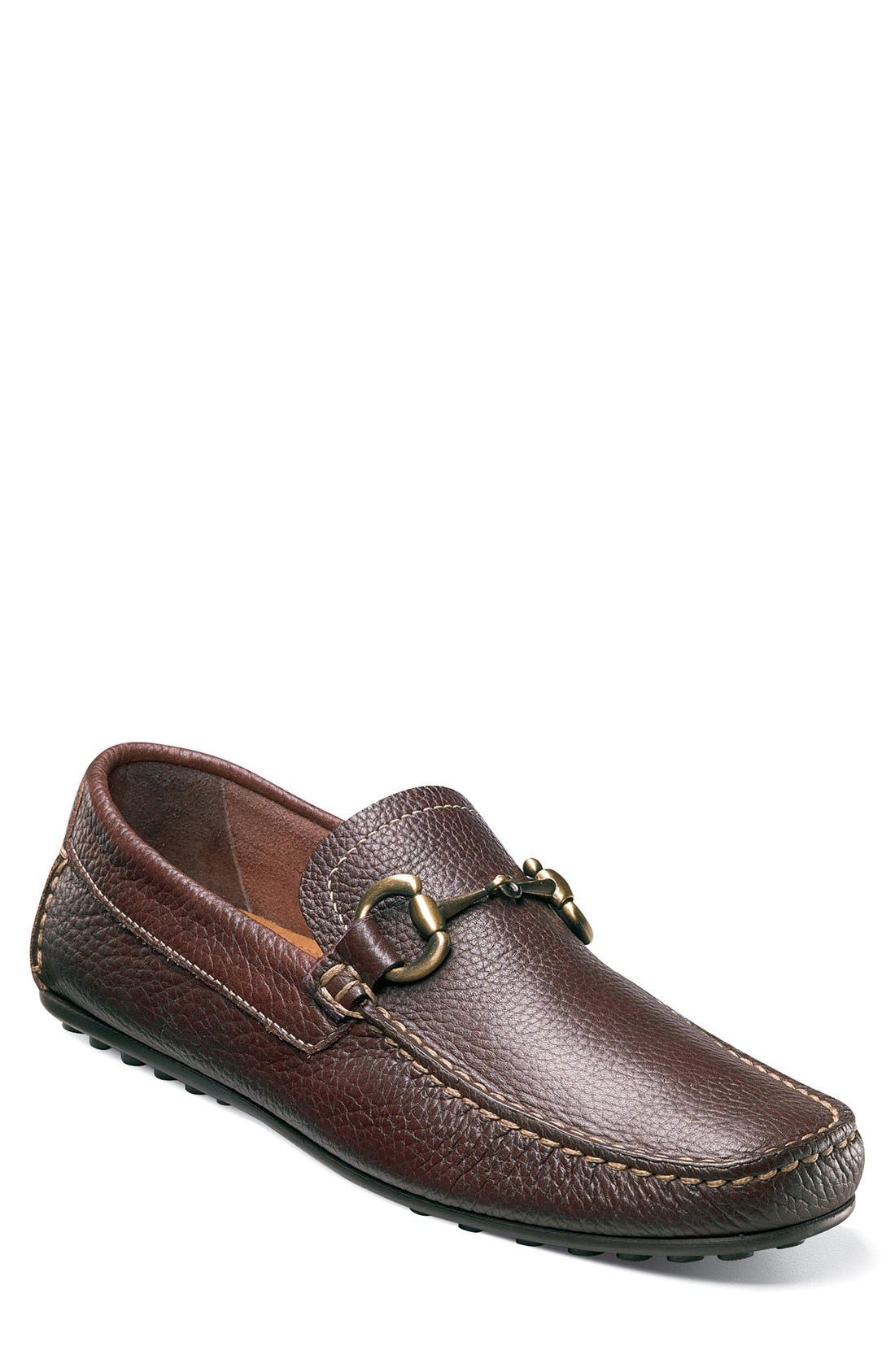 'Danforth' Driving Shoe,                             Main thumbnail 1, color,                             Brown Leather