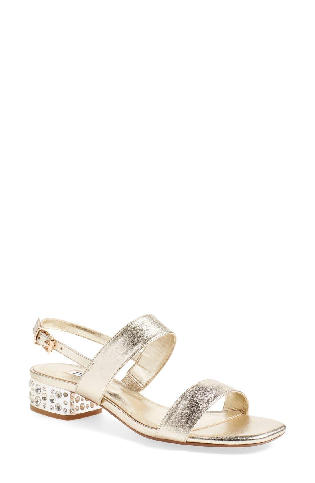 Alternate Image 1 Selected - Dune London 'Ninah' Embellished Block Heel Sandal (Women)
