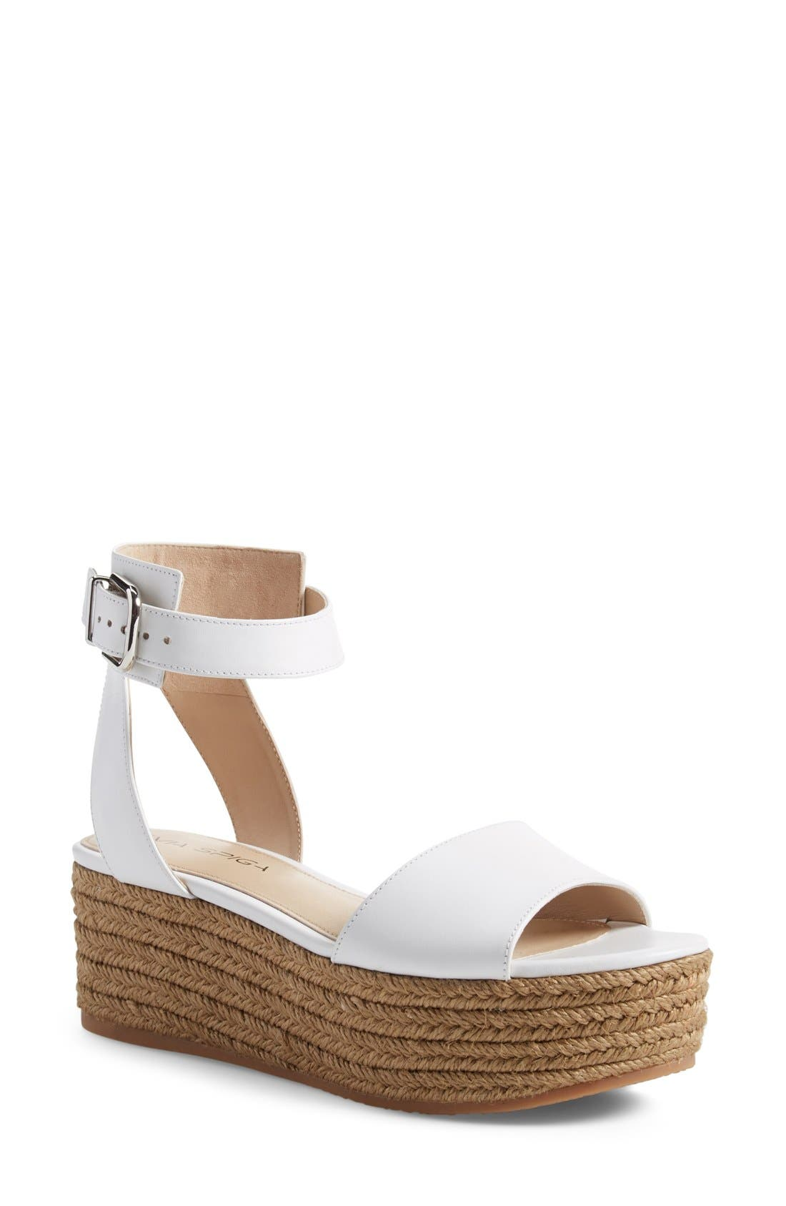 Alternate Image 1 Selected - Via Spiga 'Nemy' Platform Sandal (Women)