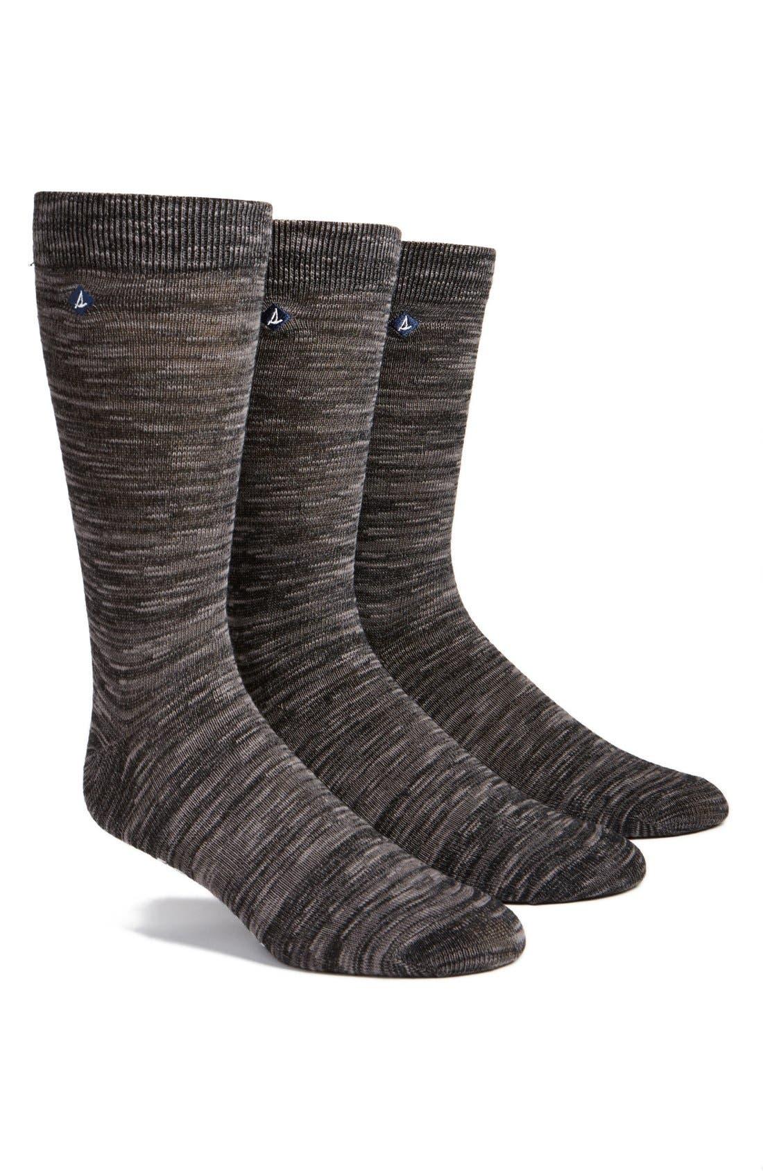 Sperry Cotton Blend Socks (3-Pack)
