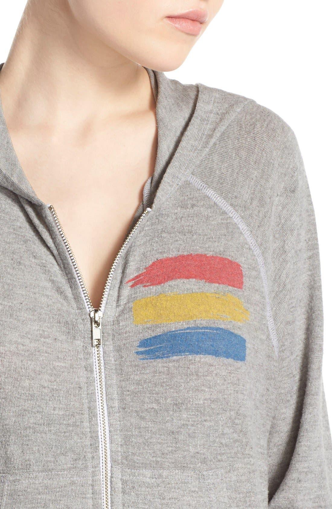 Alternate Image 4  - Lauren Moshi 'Cricket' Graphic Zip Hoodie
