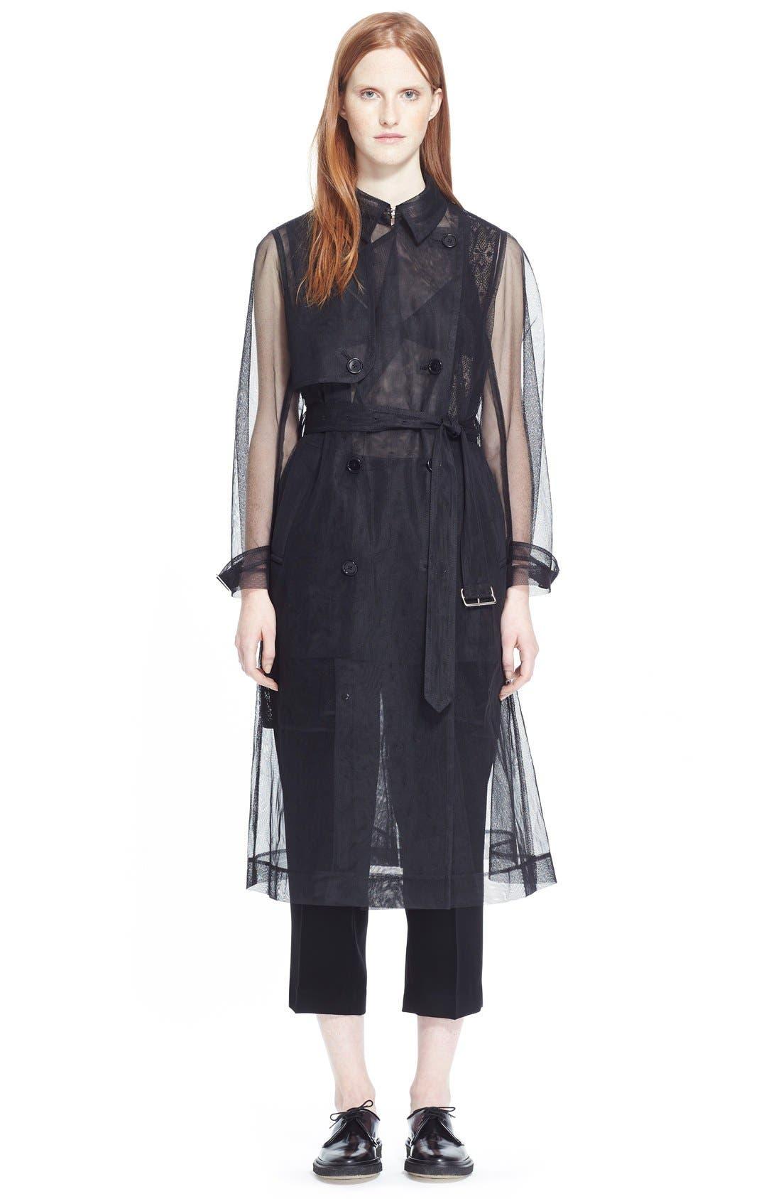 Alternate Image 6  - noir kei ninomiya Sheer Tulle Trench Coat