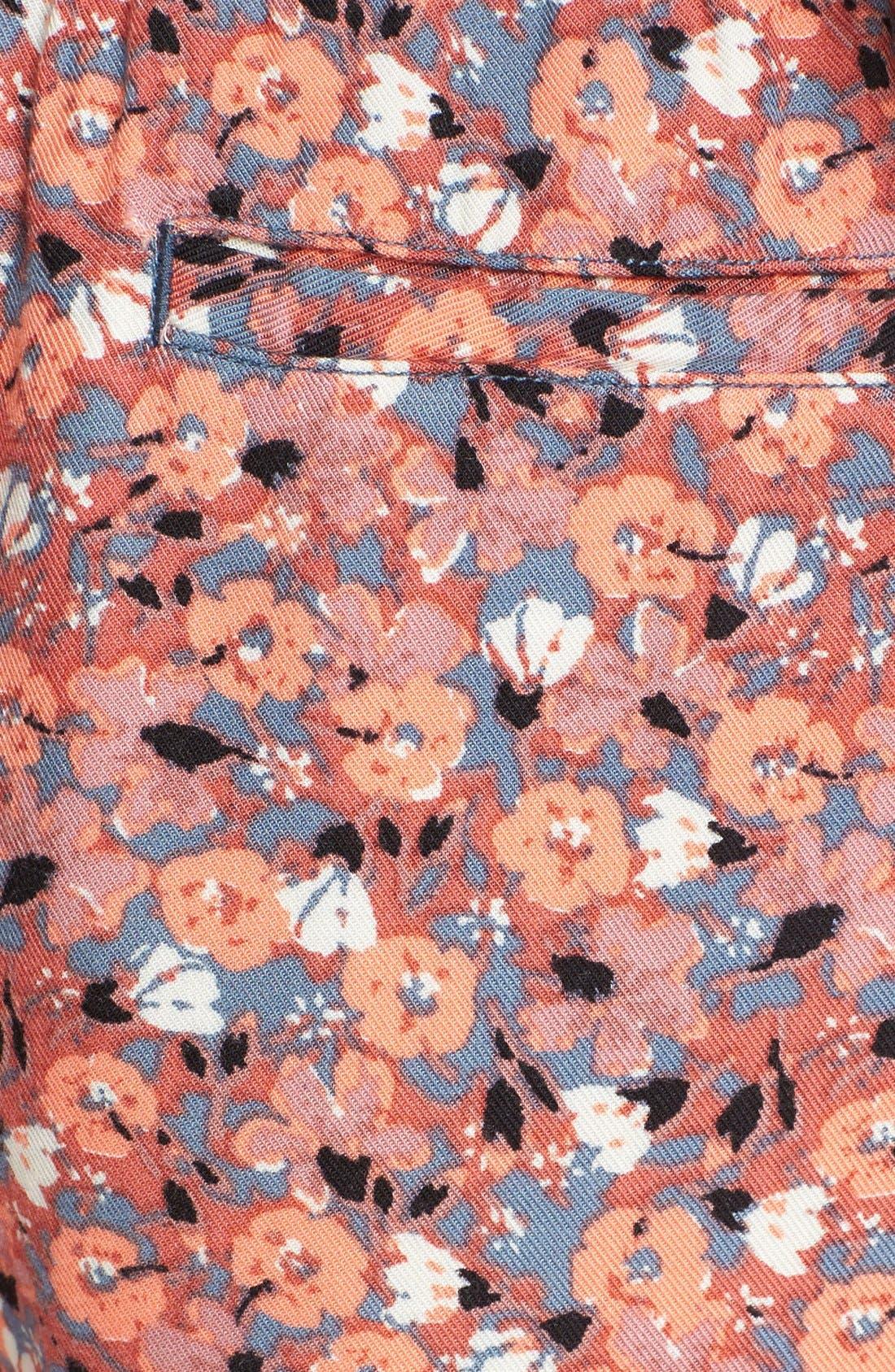 Alternate Image 5  - Free People 'Layla' Floral Print Shorts