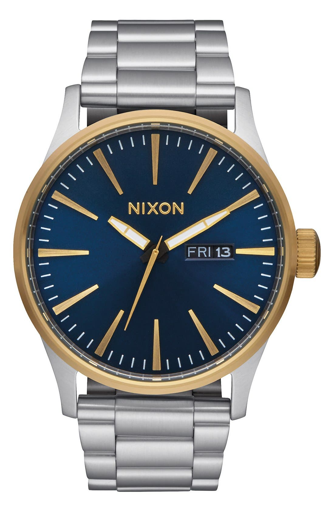 Alternate Image 1 Selected - Nixon Sentry Bracelet Watch, 42mm
