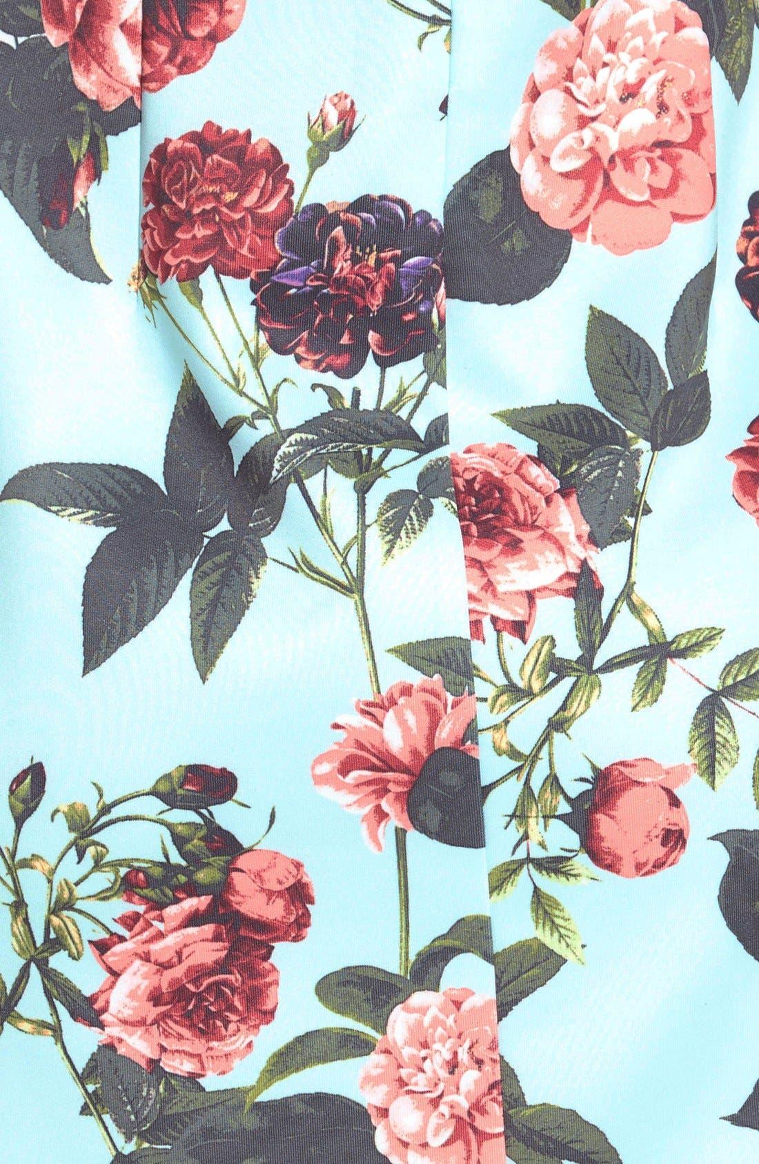 by Cynthia Steffe 'Bouquet Estate' Floral Print Scuba Knit Sheath Dress,                             Alternate thumbnail 6, color,                             Clearwater