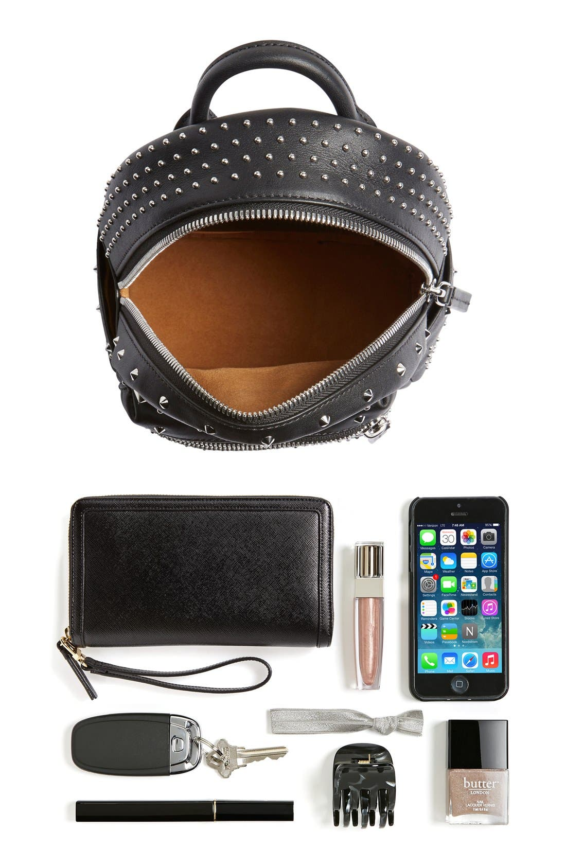 Alternate Image 7  - MCM 'X-Mini Stark - Bebe Boo' Studded Leather Backpack