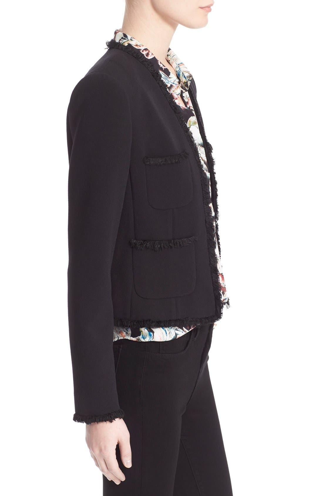 Alternate Image 3  - L'AGENCE Fringe Trim Tailored Jacket