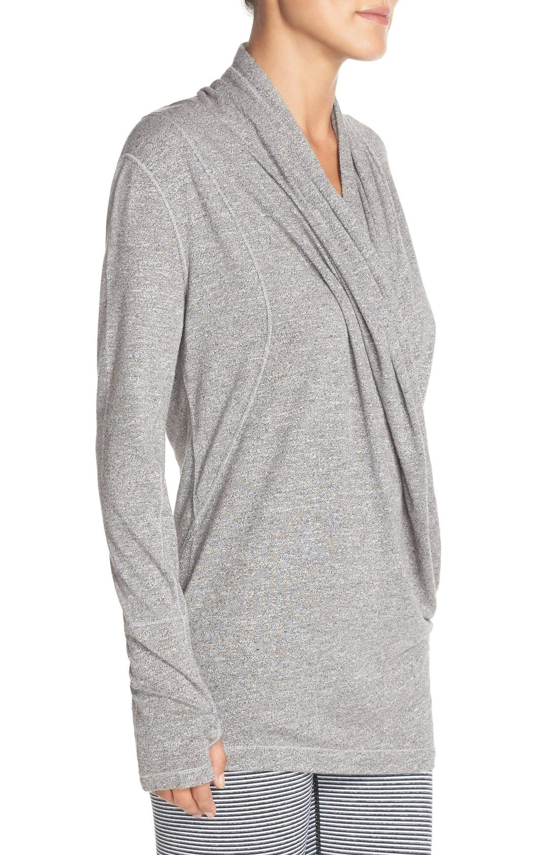 'Enlighten Me' Cardigan,                             Alternate thumbnail 3, color,                             Grey Harem