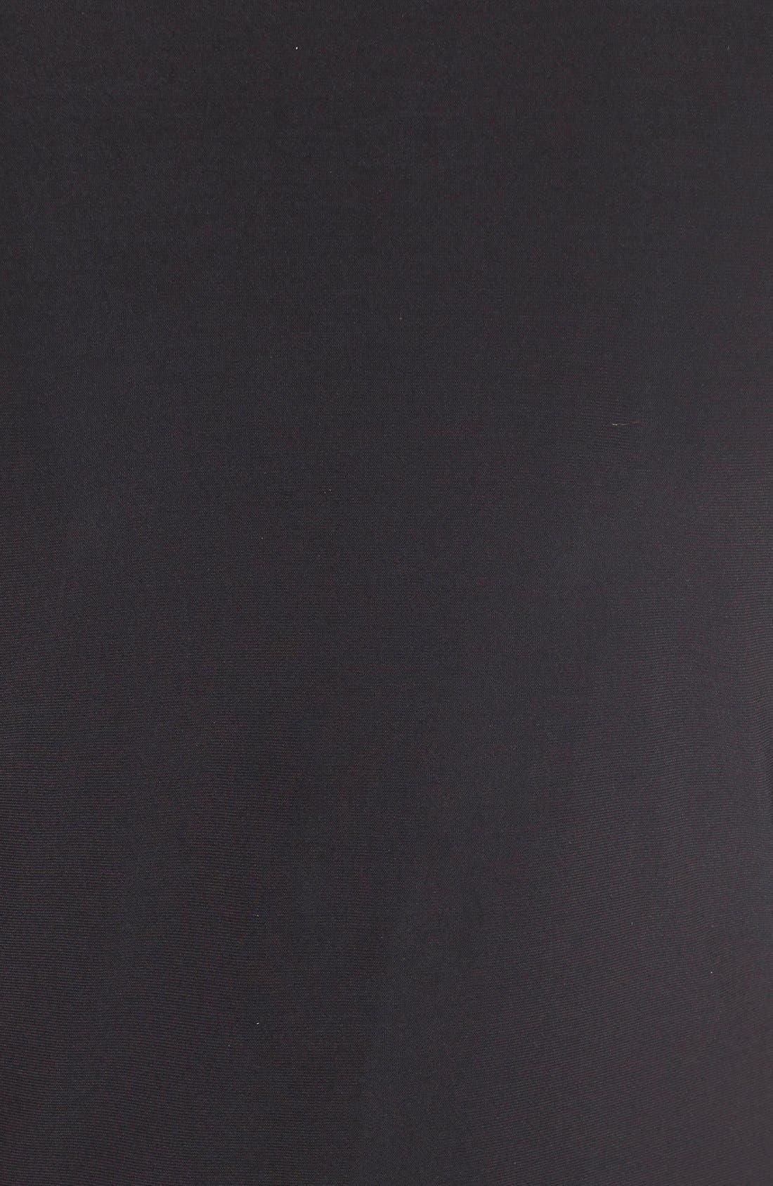 Matte Jersey Faux Wrap Fit & Flare Dress,                             Alternate thumbnail 5, color,                             Black Onyx