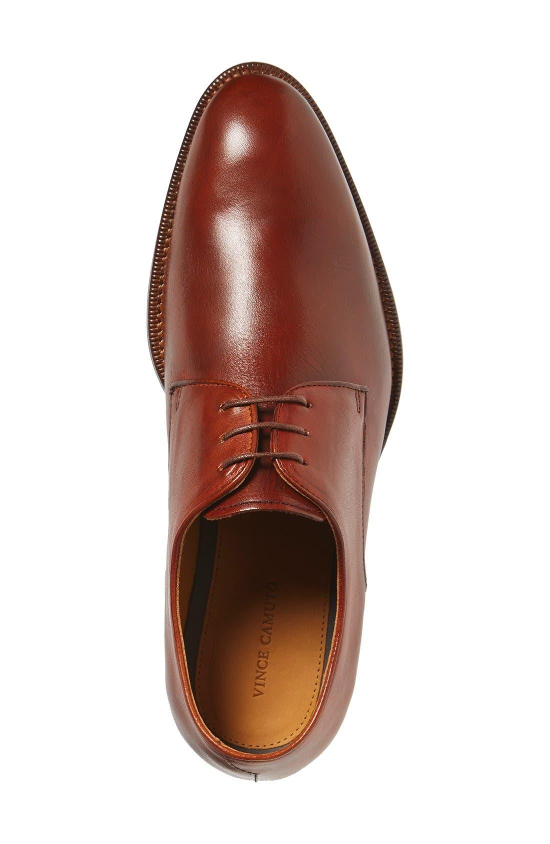 'Brogan' Derby,                             Alternate thumbnail 3, color,                             Cognac Leather