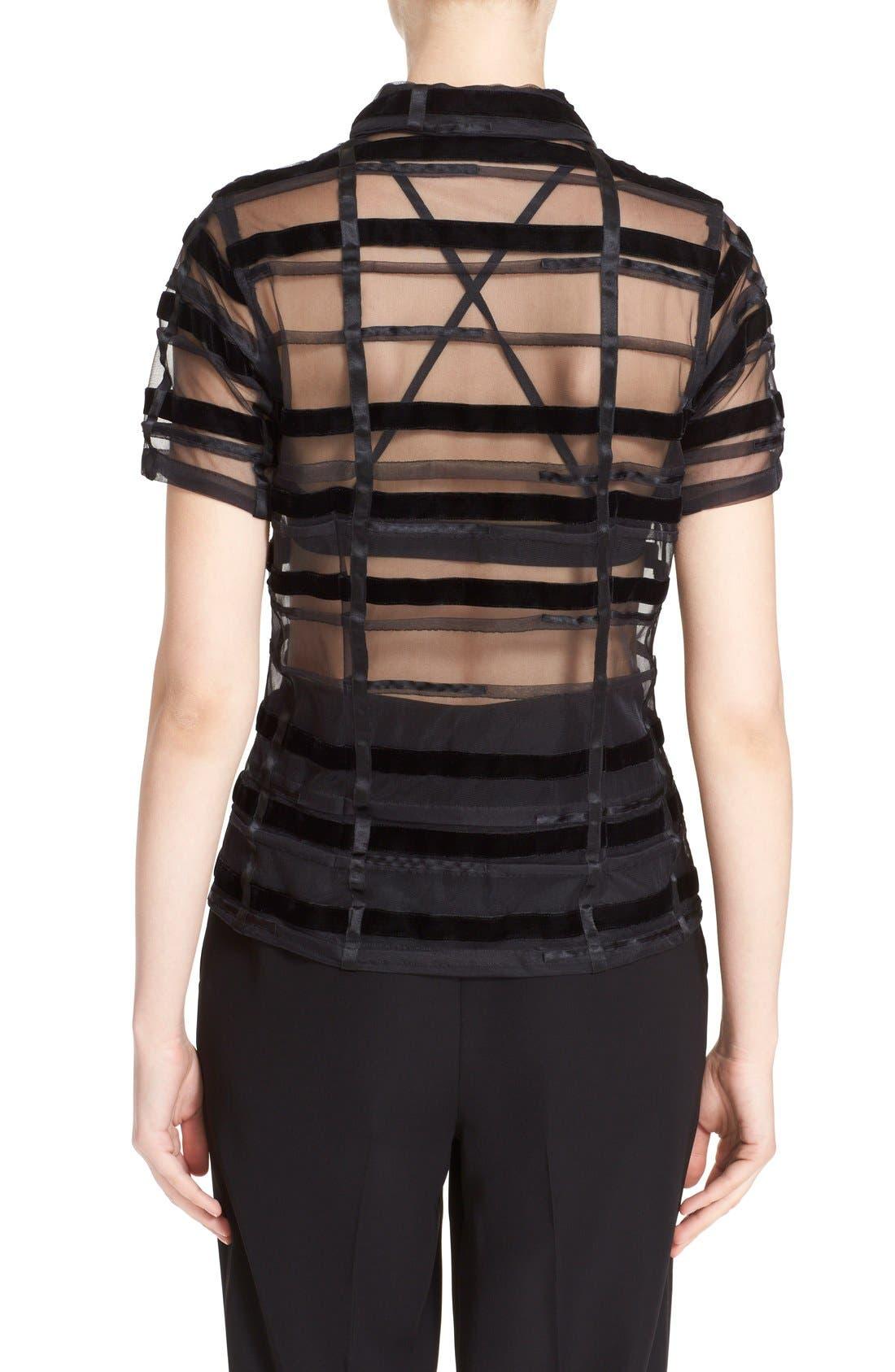 Alternate Image 2  - Comme des Garçons Sheer Button Front Blouse