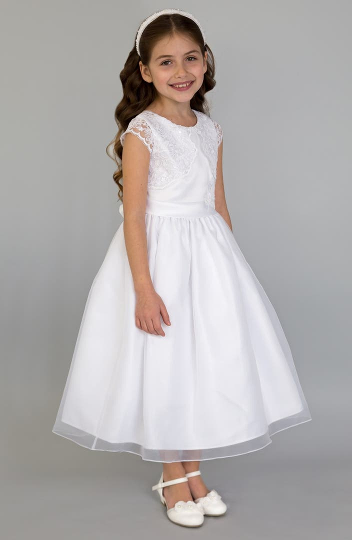 Us Angels Lace Fit & Flare Dress (Little Girls, Big Girls & Girls' Plus) | Nordstrom