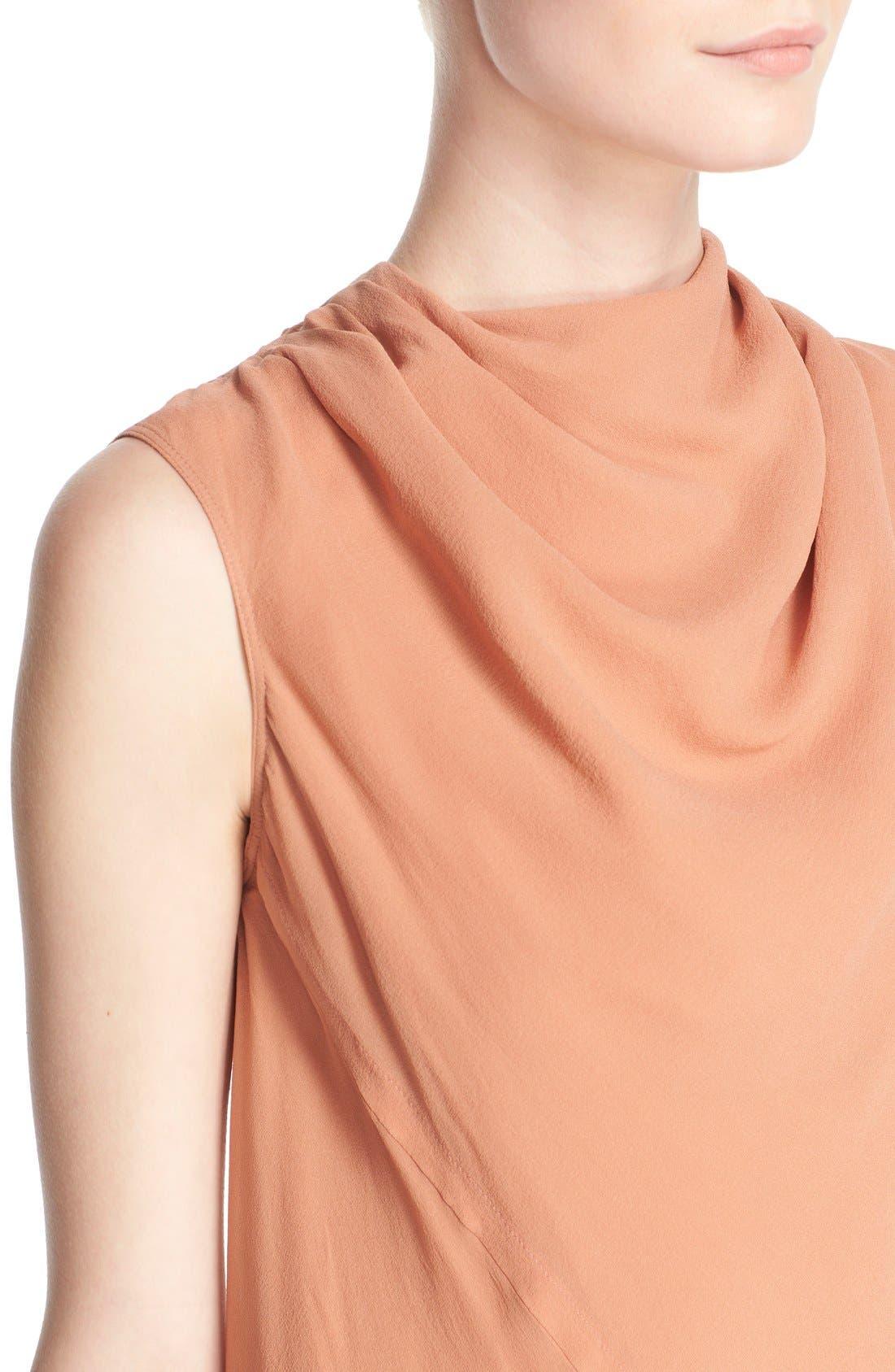 Alternate Image 6  - Rick Owens 'Bonnie' Sleeveless Silk Georgette Sheath Dress