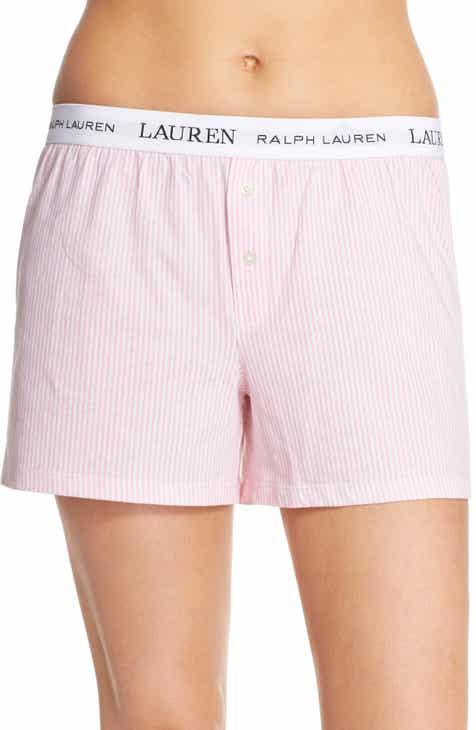 Lauren Ralph Lauren Logo Elastic Boxer Lounge Shorts by LAUREN RALPH LAUREN