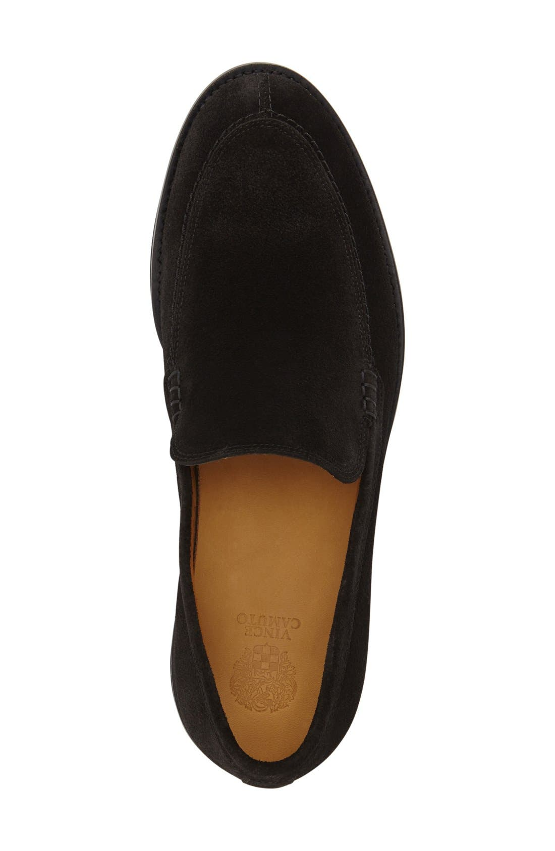 'Arleigh' Loafer,                             Alternate thumbnail 4, color,                             Black Suede