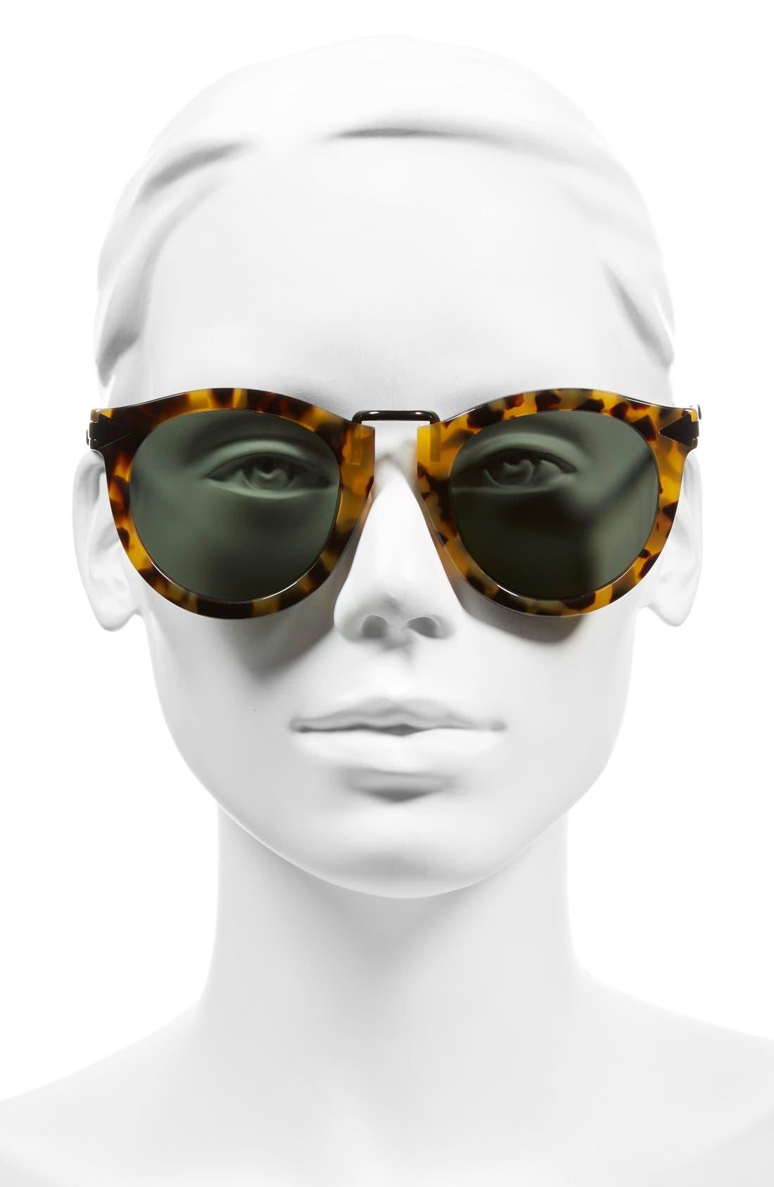 'Harvest' 50mm Sunglasses,                             Alternate thumbnail 3, color,                             Crazy Tortoise