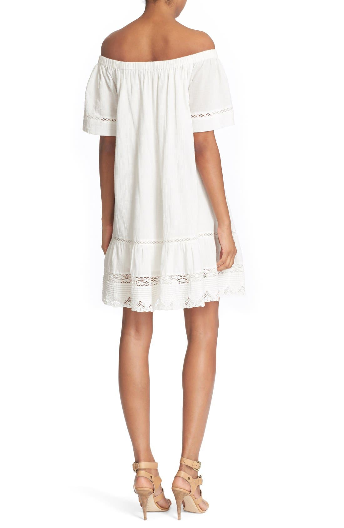 Alternate Image 2  - Rebecca Taylor Off the Shoulder Cotton Dress