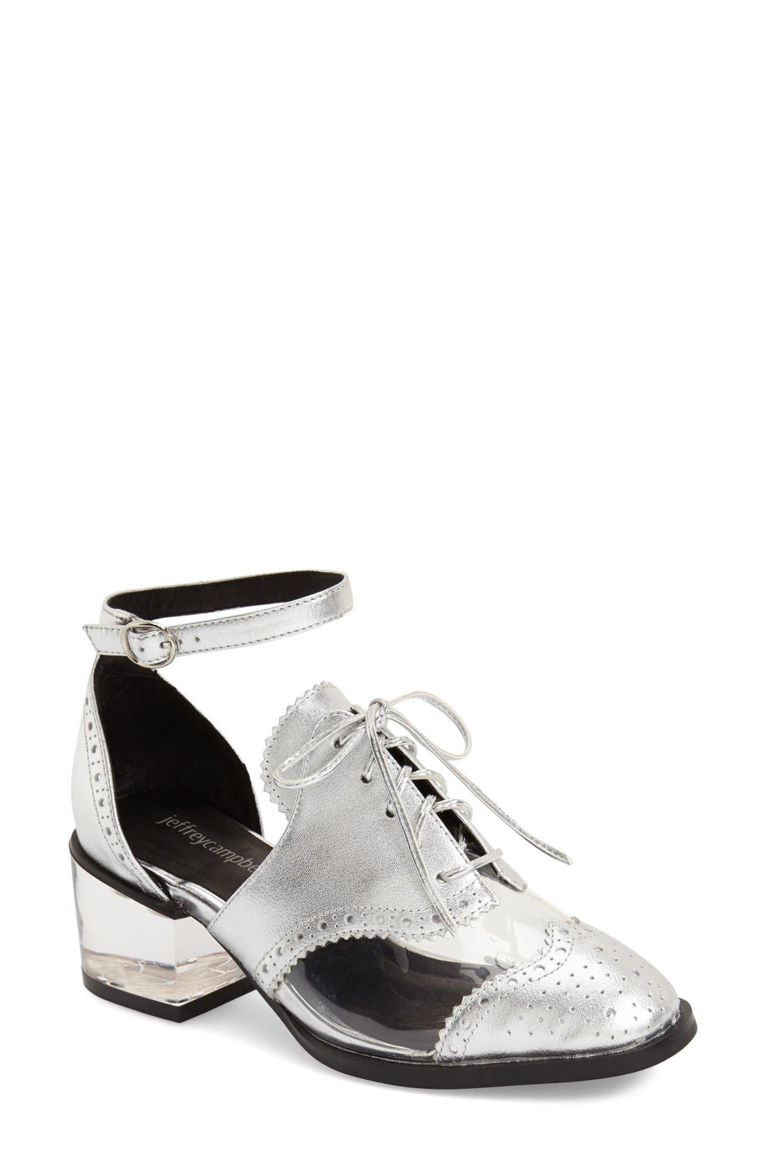 Alternate Image 1 Selected - Jeffrey Campbell 'Thoreau' Ankle Strap Oxford (Women)