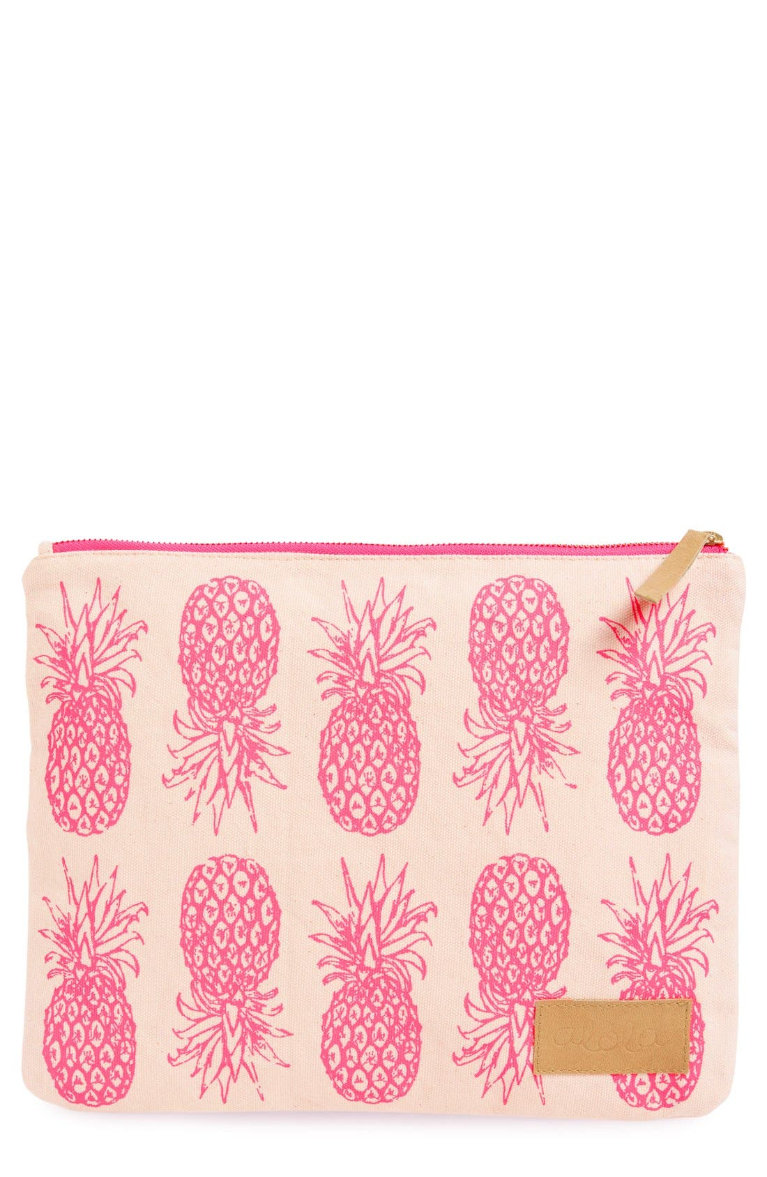 Alternate Image 1 Selected - alola Pineapple Print Canvas Clutch