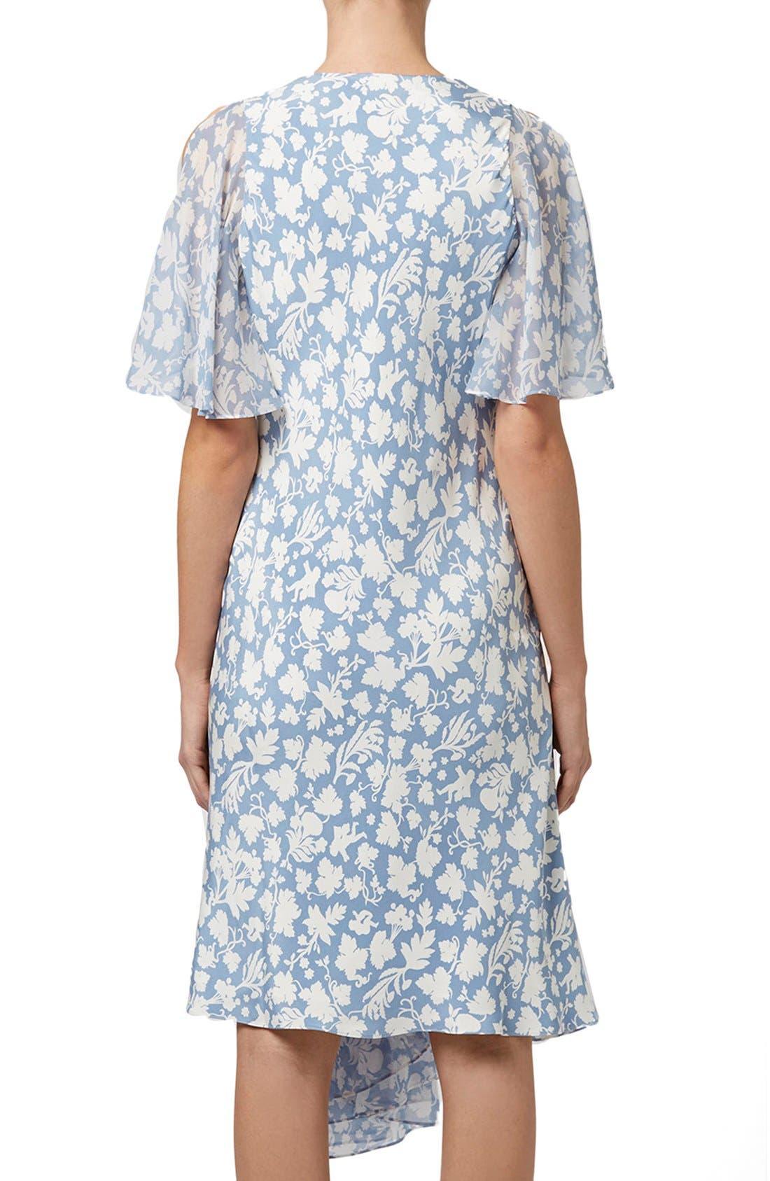 Alternate Image 3  - Topshop Unique 'Belfour' Floral Print Silk Dress