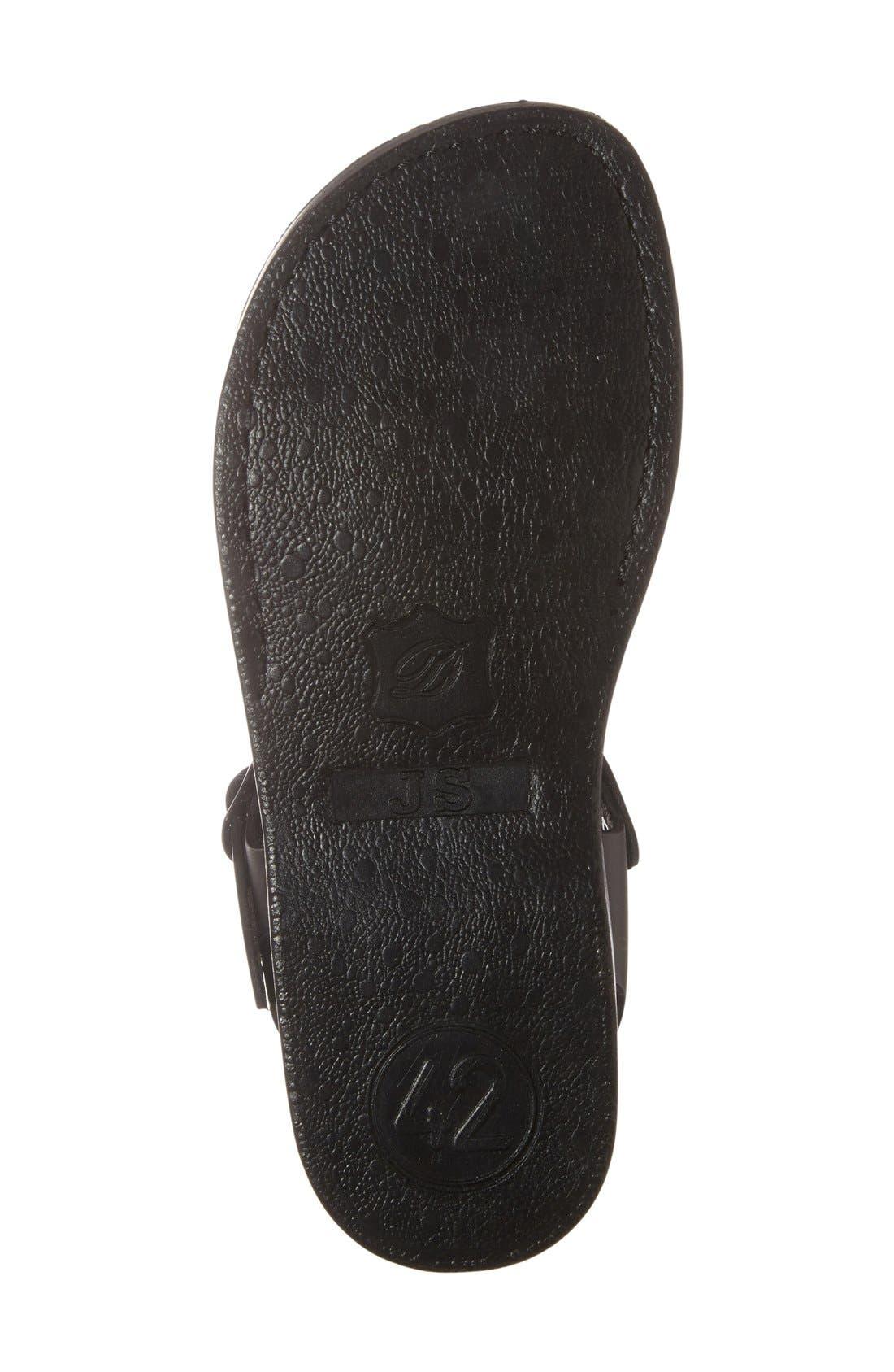 'The Original' Sandal,                             Alternate thumbnail 4, color,                             Black Leather