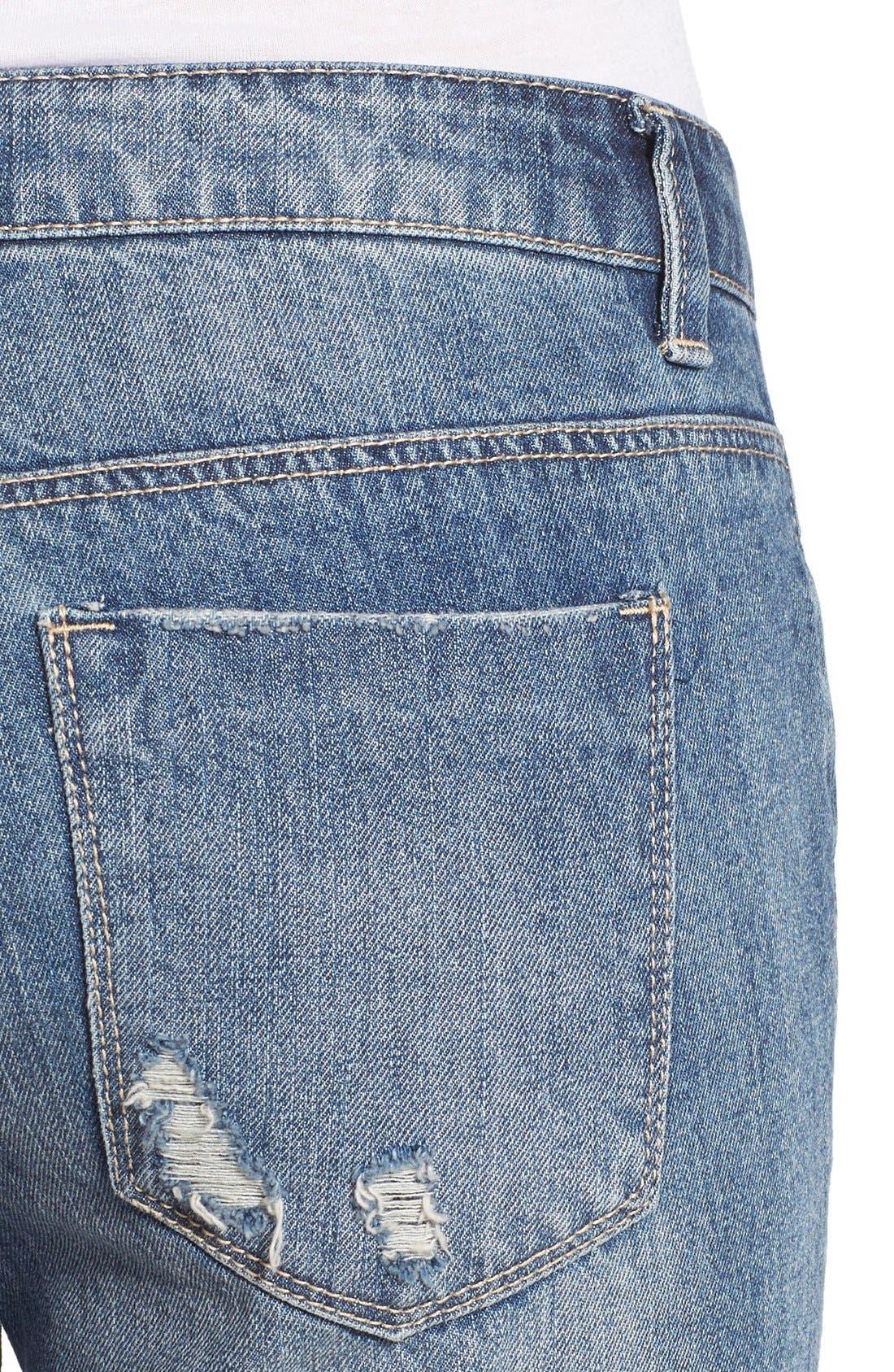 Alternate Image 4  - Generra Distressed Slim Boyfriend Jeans (Carren)