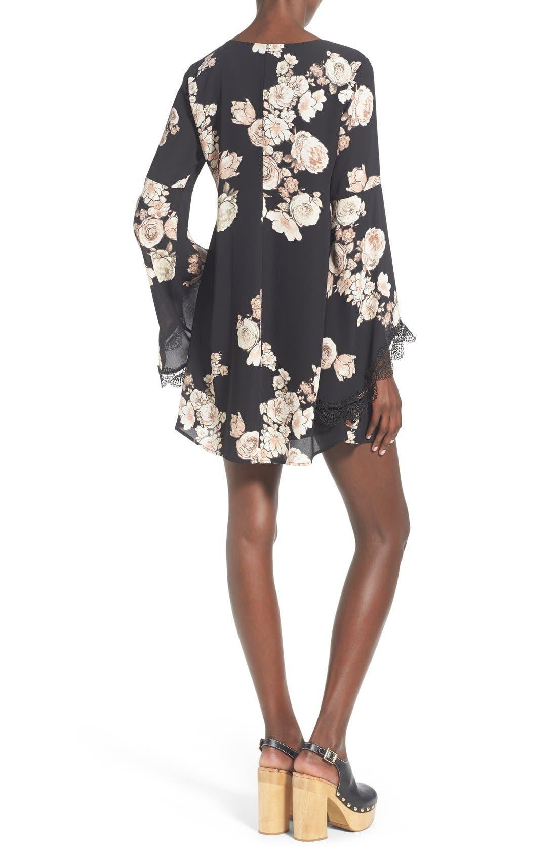 Alternate Image 2  - ASTR Lace Trim Shift Dress