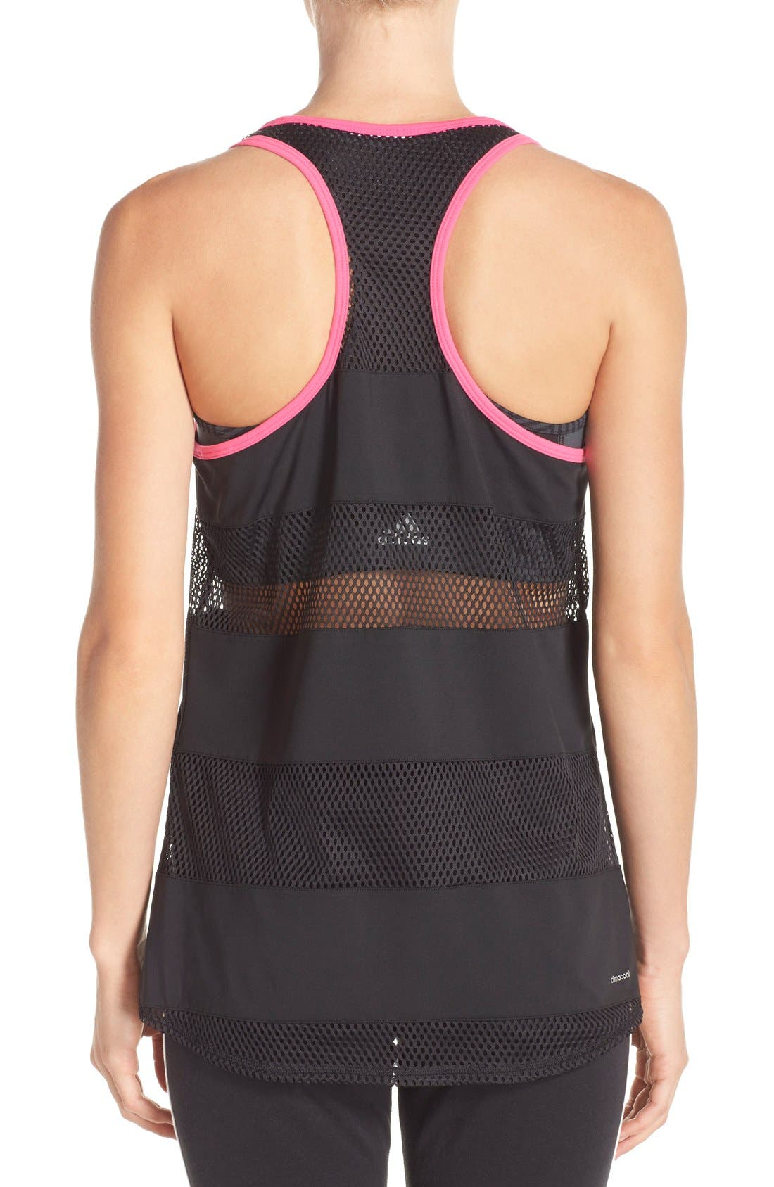 Alternate Image 2  - adidas 'Spring Break' Mesh Inset Racerback Tank