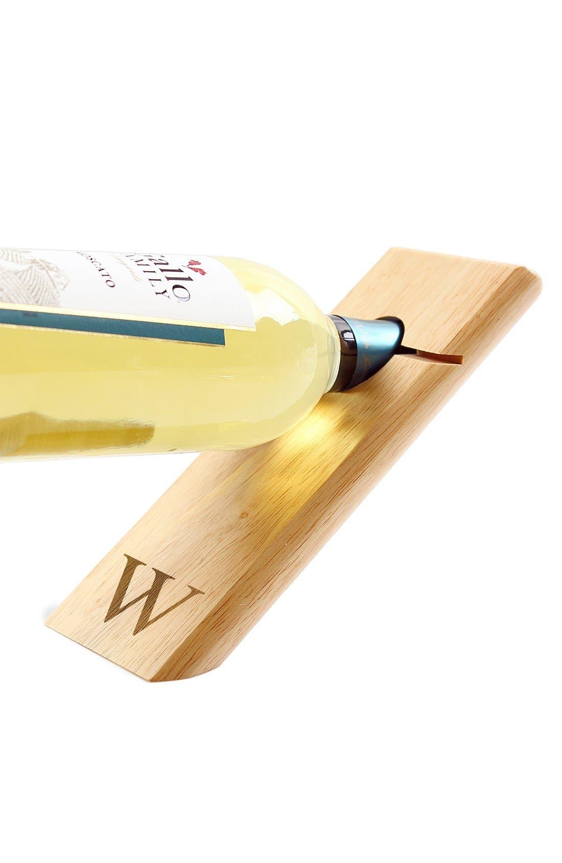 Alternate Image 4  - Cathy's Concepts Monogram Counter Balance Wine Bottle Holder